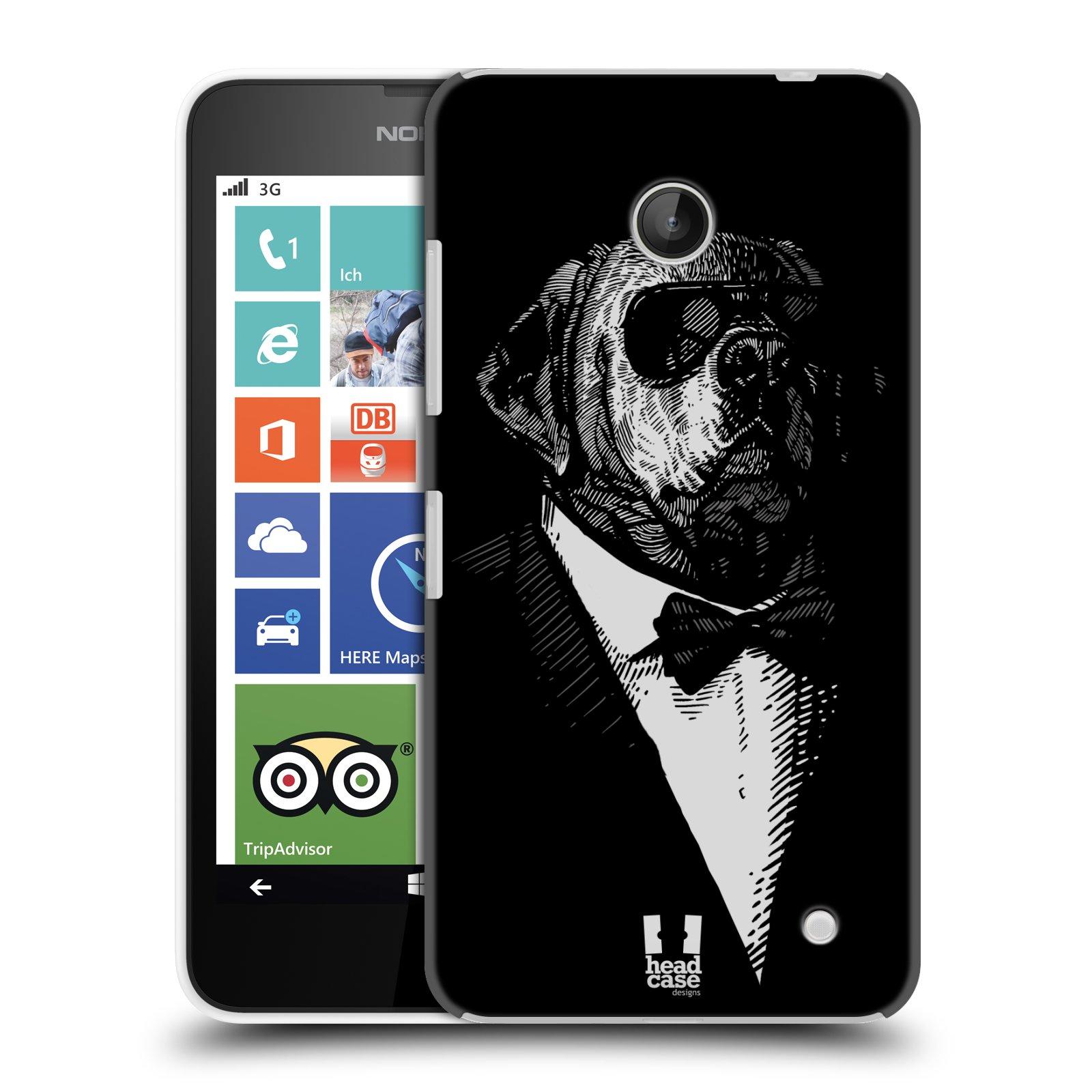 Plastové pouzdro na mobil Nokia Lumia 630 HEAD CASE PSISKO V KVÁDRU (Kryt či obal na mobilní telefon Nokia Lumia 630 a Nokia Lumia 630 Dual SIM)
