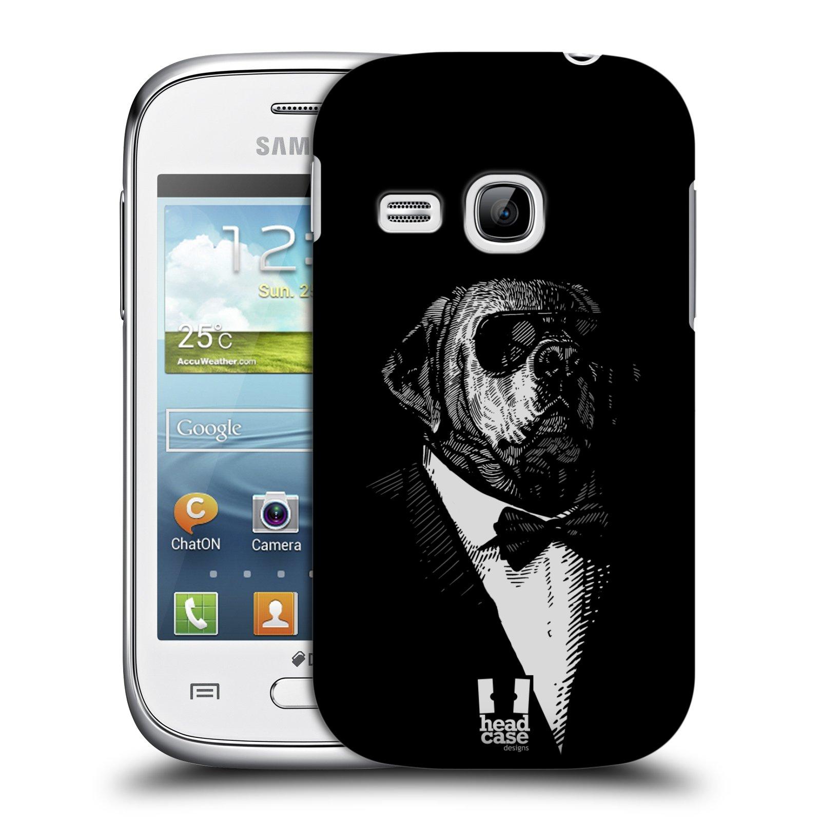 Plastové pouzdro na mobil Samsung Galaxy Young HEAD CASE PSISKO V KVÁDRU (Kryt či obal na mobilní telefon Samsung Galaxy Young GT-S6310)