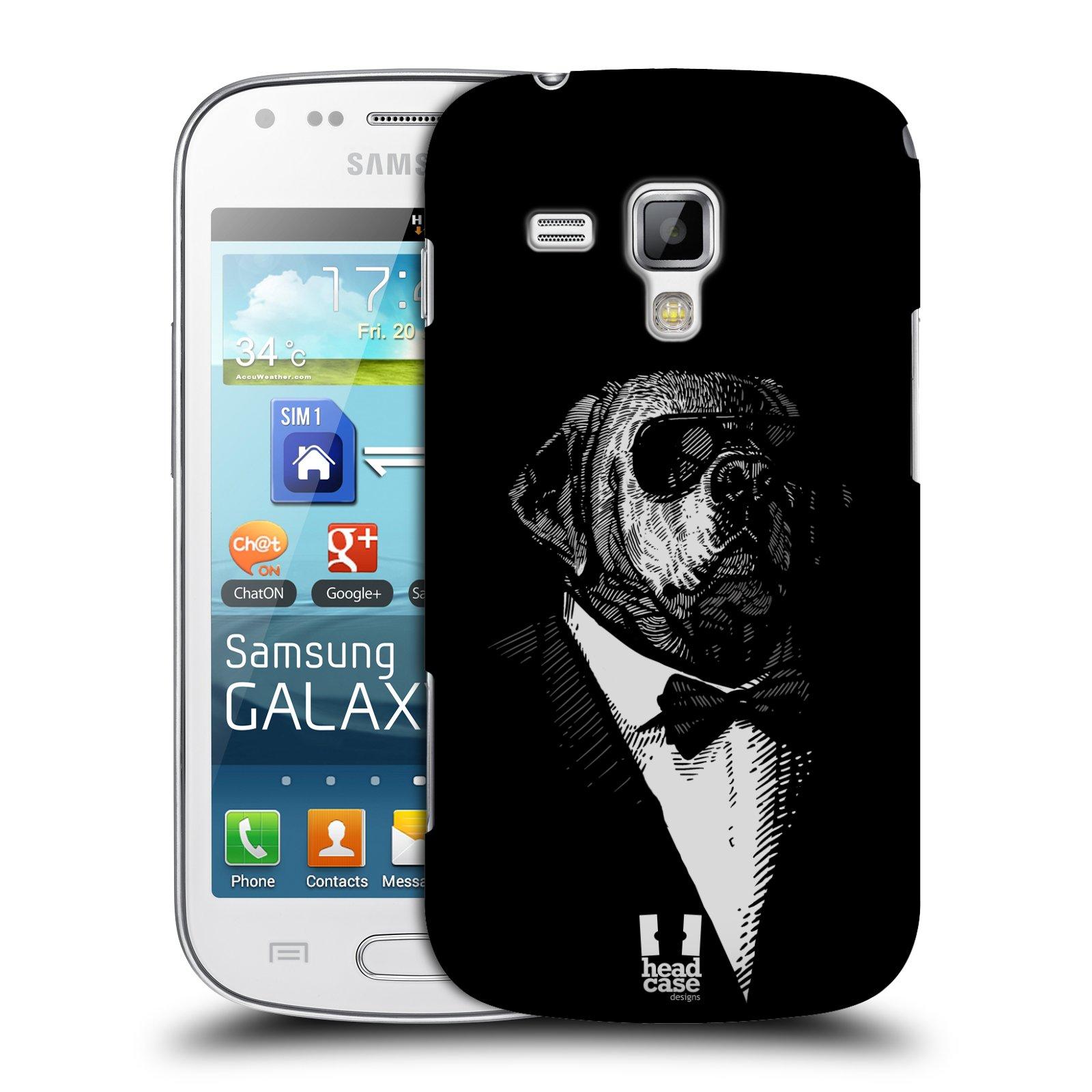 Plastové pouzdro na mobil Samsung Galaxy S Duos HEAD CASE PSISKO V KVÁDRU (Kryt či obal na mobilní telefon Samsung Galaxy S Duos GT-S7562)