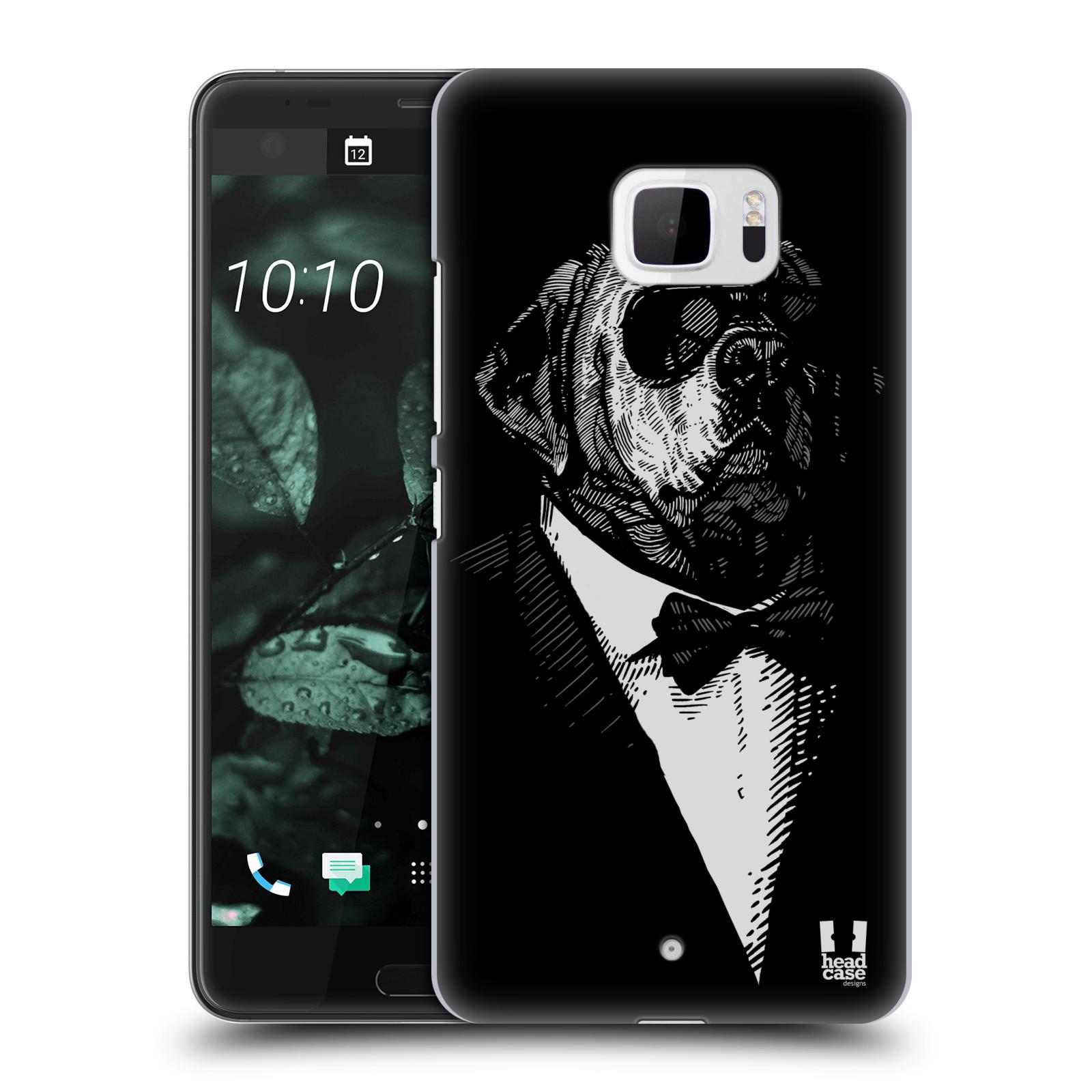 Plastové pouzdro na mobil HTC U Ultra Head Case - PSISKO V KVÁDRU (Plastový kryt či obal na mobilní telefon HTC U Ultra (99HALT015-00))