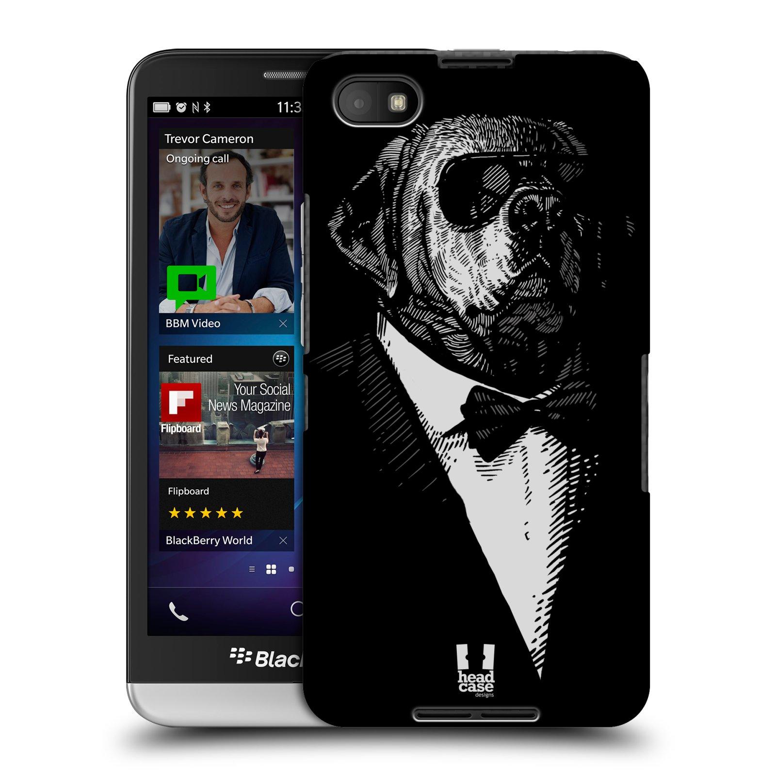 Plastové pouzdro na mobil Blackberry Z30 HEAD CASE PSISKO V KVÁDRU (Kryt či obal na mobilní telefon Blackberry Z30)
