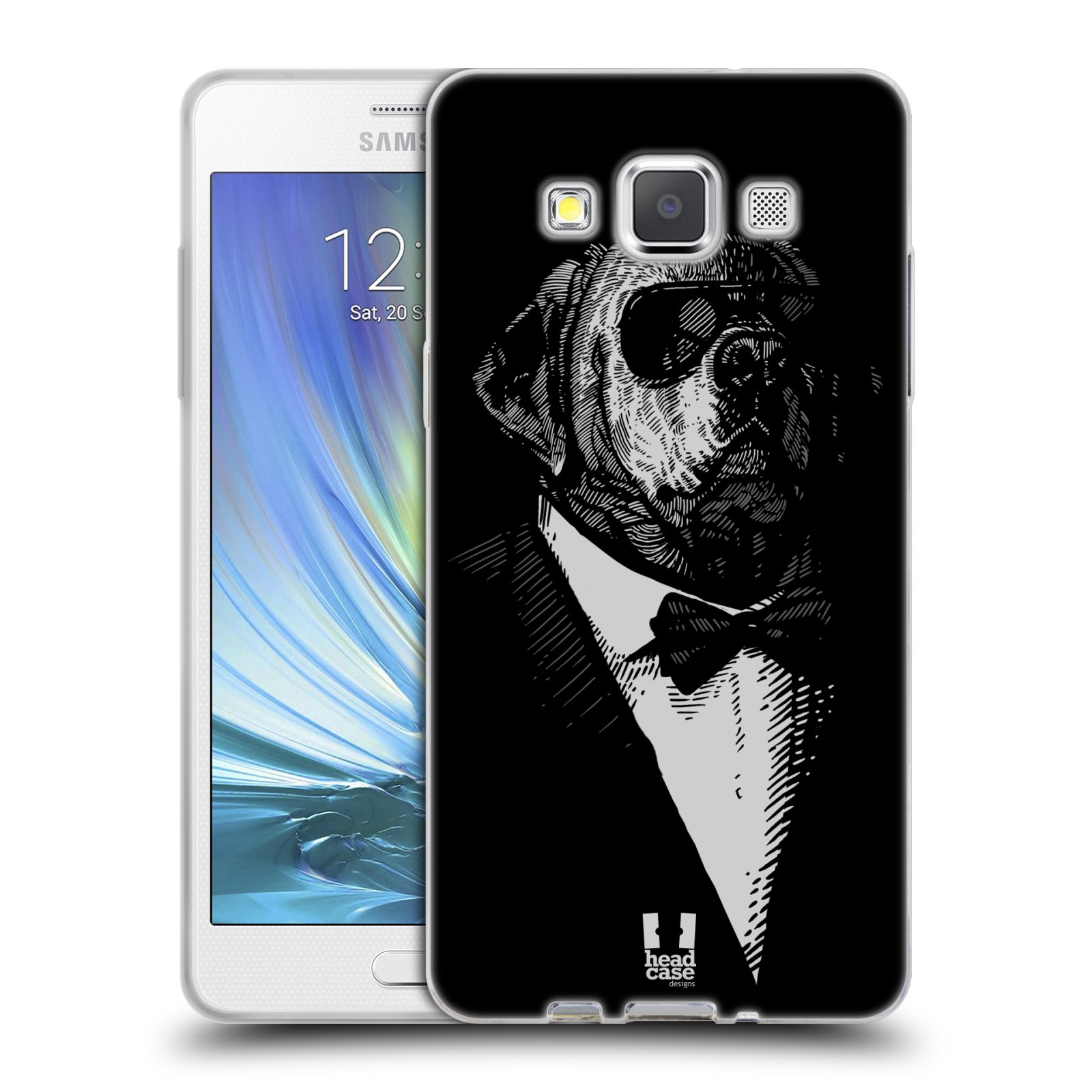 Silikonové pouzdro na mobil Samsung Galaxy A5 HEAD CASE PSISKO V KVÁDRU
