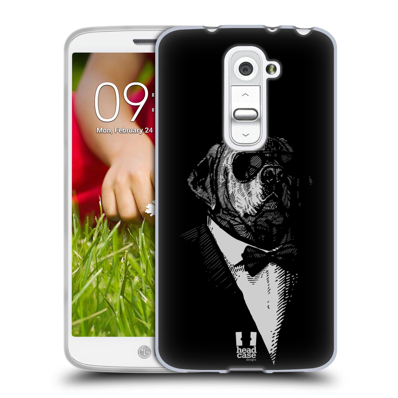 Silikonové pouzdro na mobil LG G2 Mini HEAD CASE PSISKO V KVÁDRU (Silikonový kryt či obal na mobilní telefon LG G2 Mini D620)