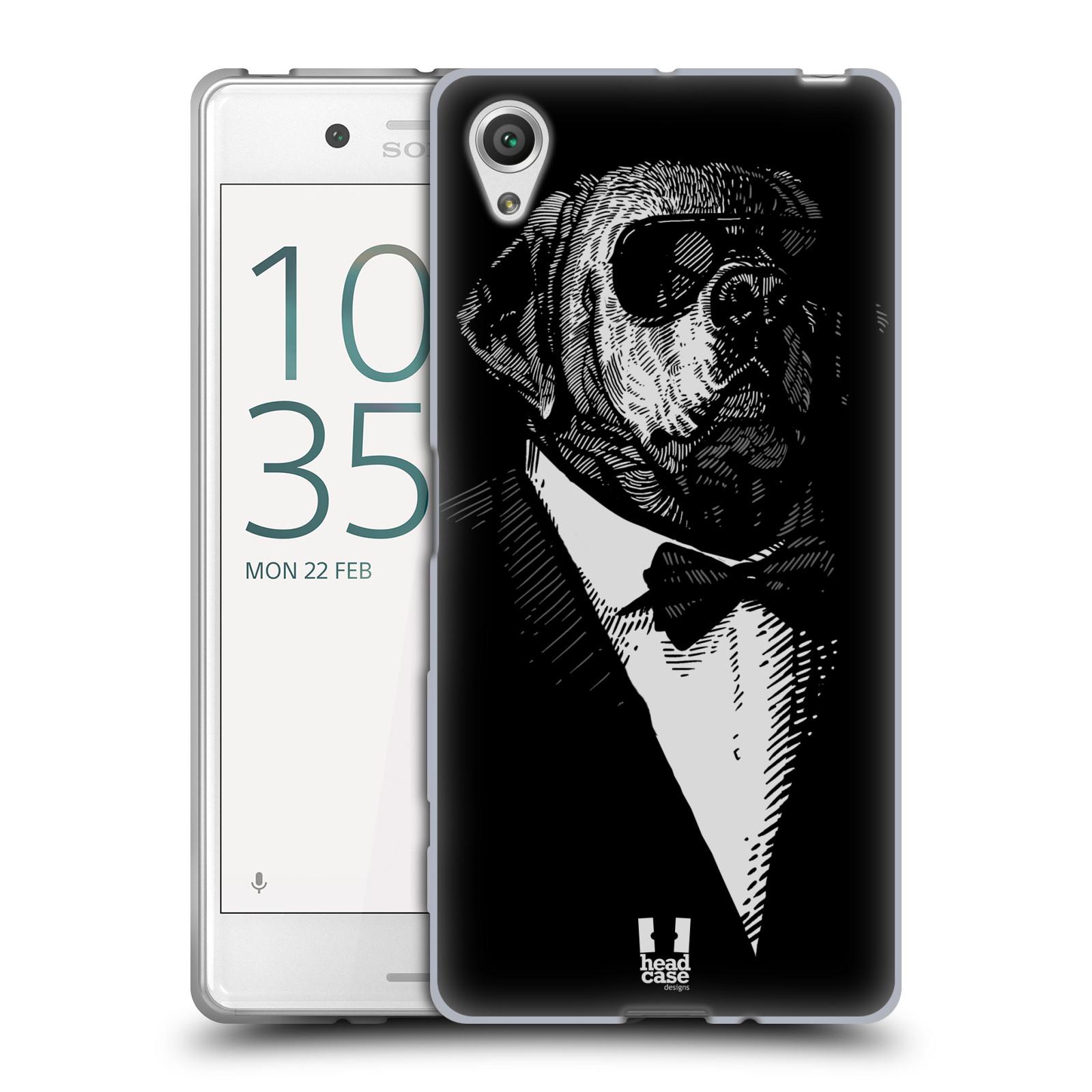 Silikonové pouzdro na mobil Sony Xperia X HEAD CASE PSISKO V KVÁDRU (Silikonový kryt či obal na mobilní telefon Sony Xperia X F5121 / Dual SIM F5122)