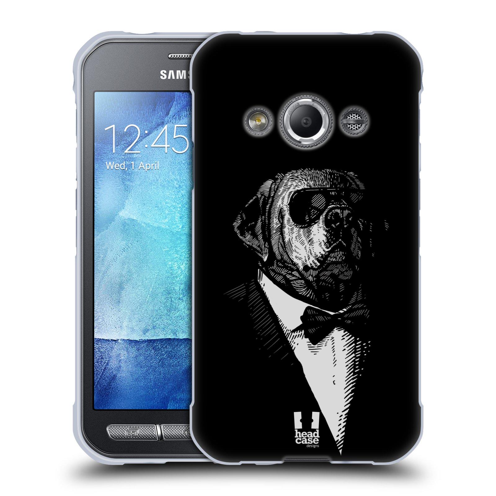 Silikonové pouzdro na mobil Samsung Galaxy Xcover 3 HEAD CASE PSISKO V KVÁDRU (Silikonový kryt či obal na mobilní telefon Samsung Galaxy Xcover 3 SM-G388F)