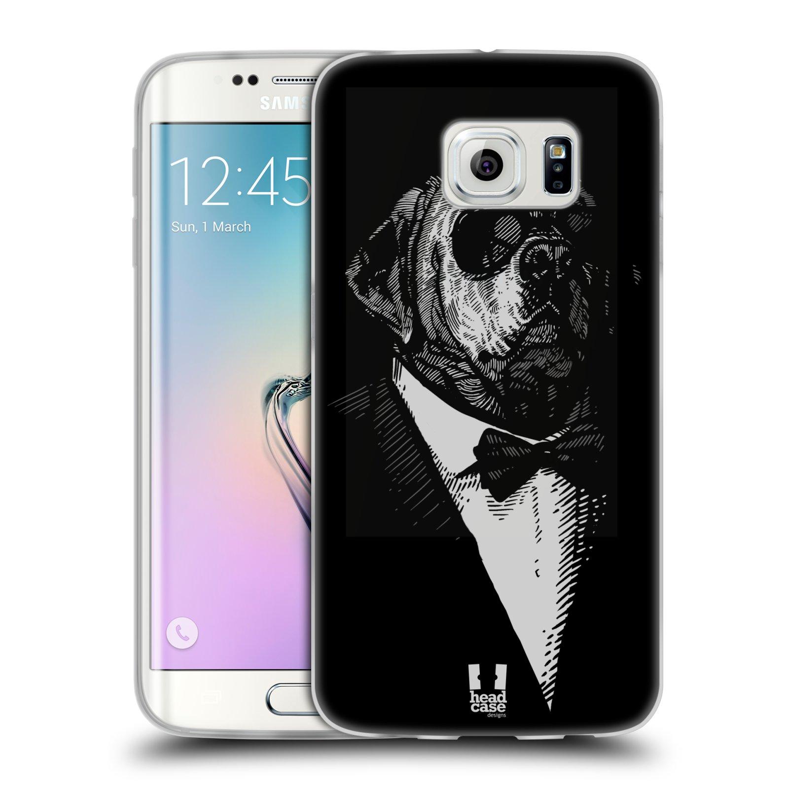 Silikonové pouzdro na mobil Samsung Galaxy S6 Edge HEAD CASE PSISKO V KVÁDRU (Silikonový kryt či obal na mobilní telefon Samsung Galaxy S6 Edge SM-G925F)