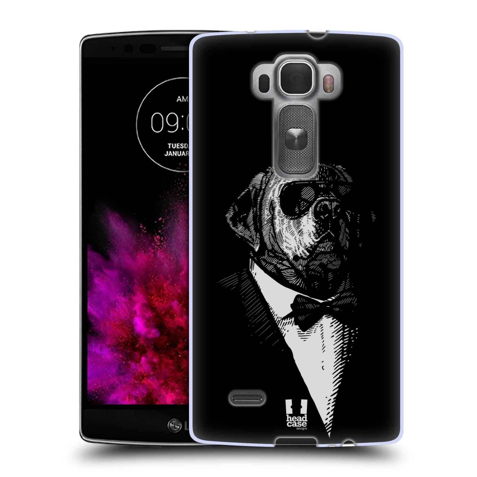 Silikonové pouzdro na mobil LG G Flex 2 HEAD CASE PSISKO V KVÁDRU (Silikonový kryt či obal na mobilní telefon LG G Flex 2 H955)