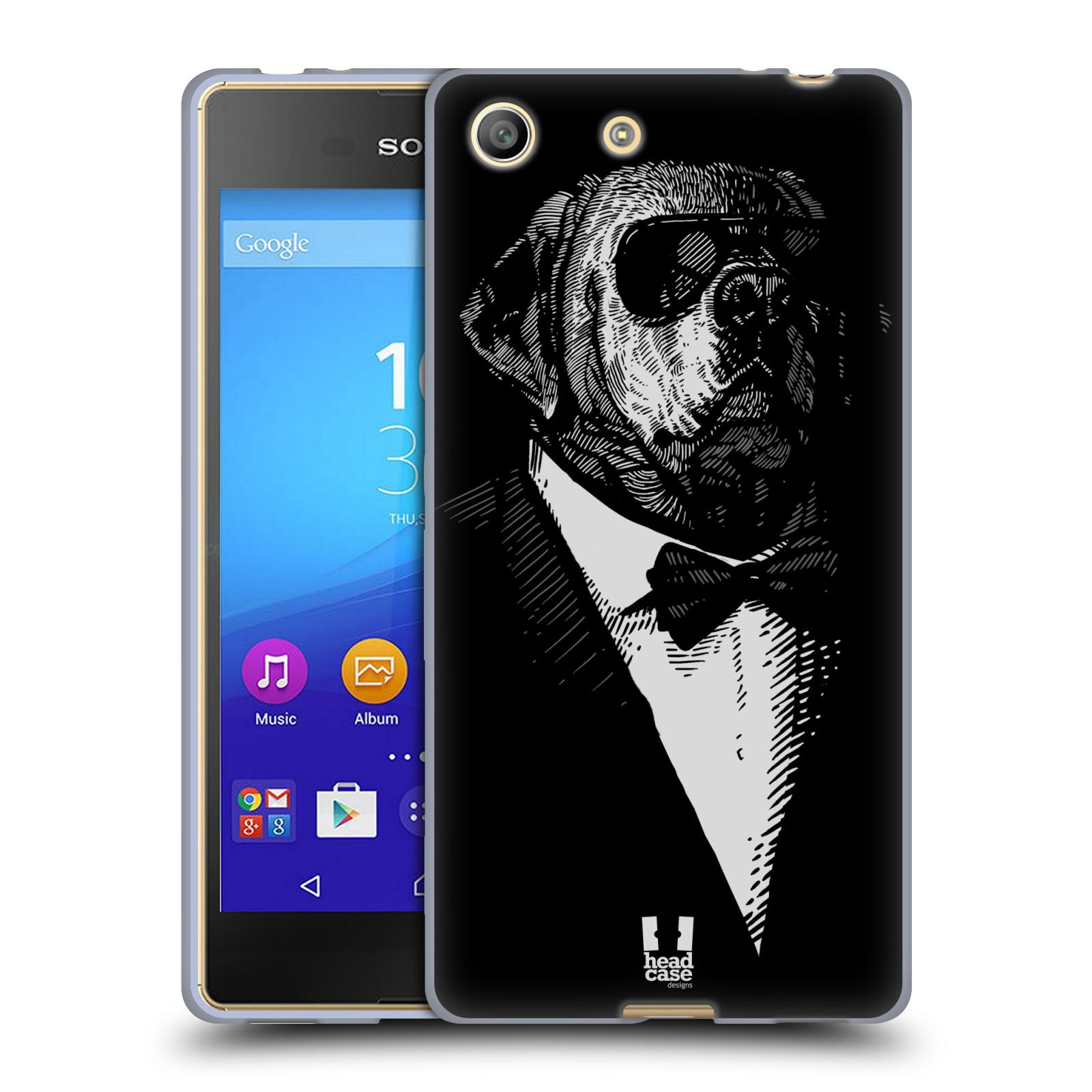 Silikonové pouzdro na mobil Sony Xperia M5 HEAD CASE PSISKO V KVÁDRU (Silikonový kryt či obal na mobilní telefon Sony Xperia M5 Dual SIM / Aqua)