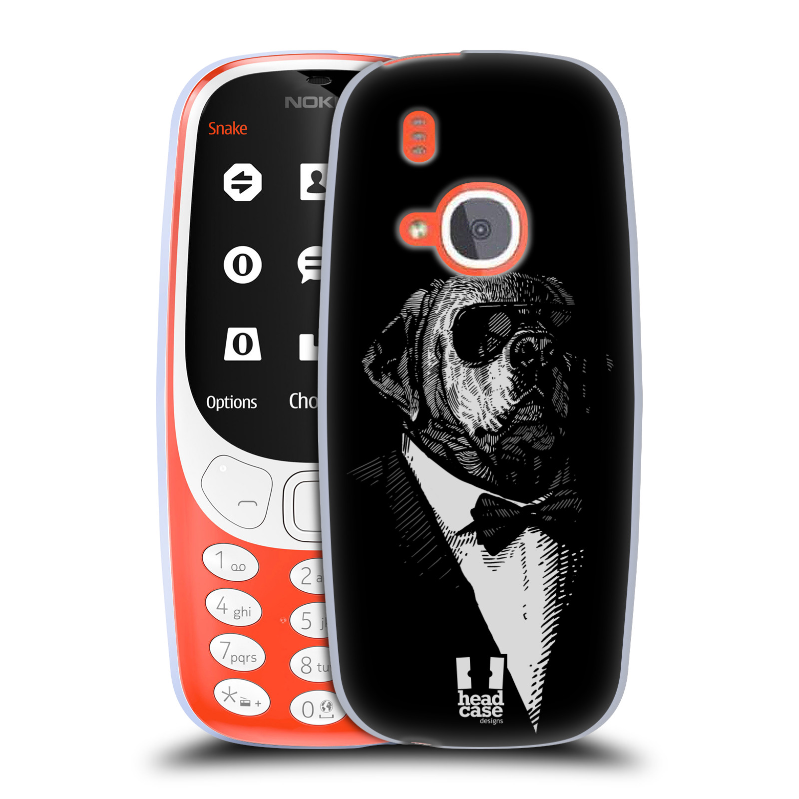 Silikonové pouzdro na mobil Nokia 3310 - Head Case - PSISKO V KVÁDRU (Silikonový kryt či obal na mobilní telefon Nokia 3310 (2017) s motivem PSISKO V KVÁDRU)