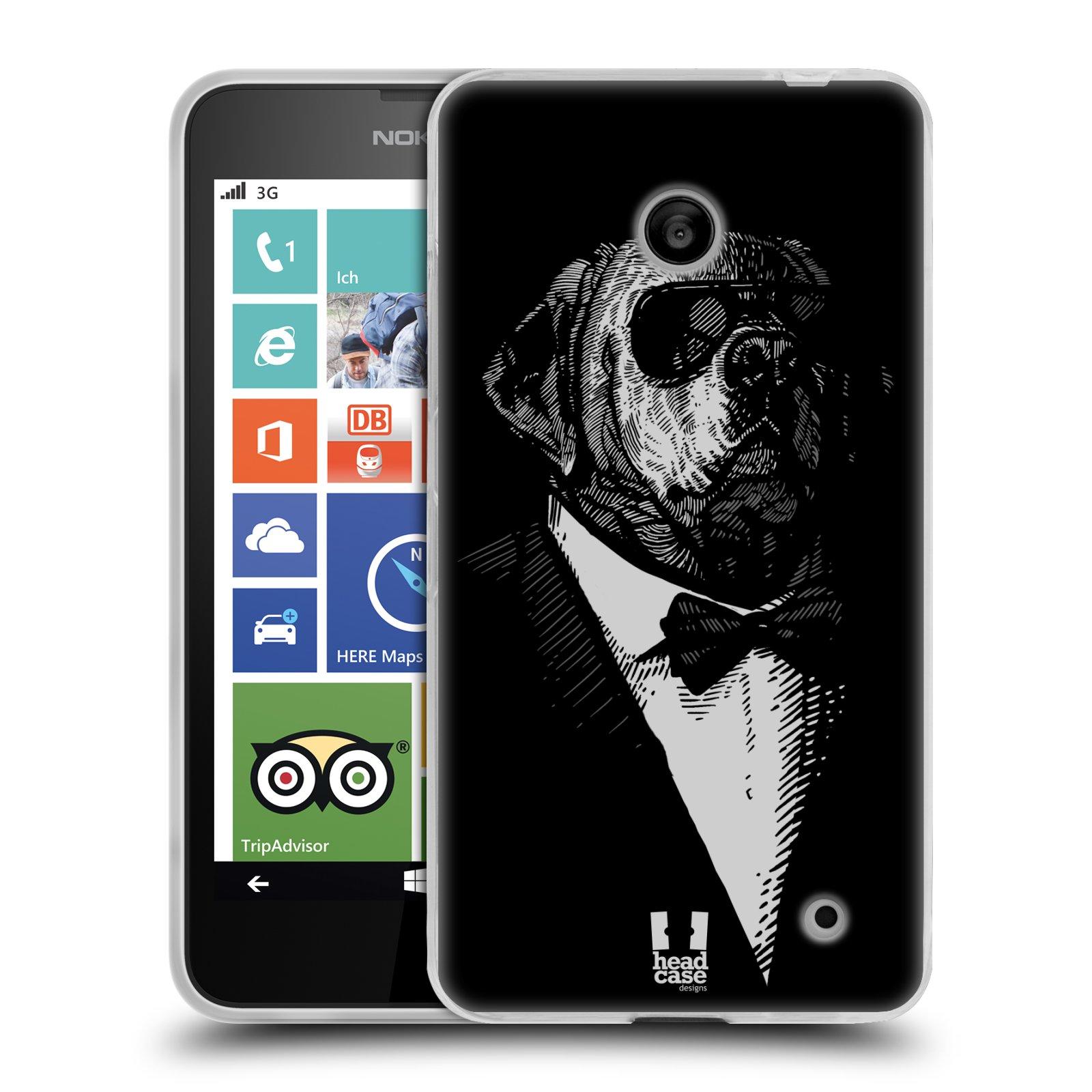 Silikonové pouzdro na mobil Nokia Lumia 635 HEAD CASE PSISKO V KVÁDRU (Silikonový kryt či obal na mobilní telefon Nokia Lumia 635 Dual SIM)