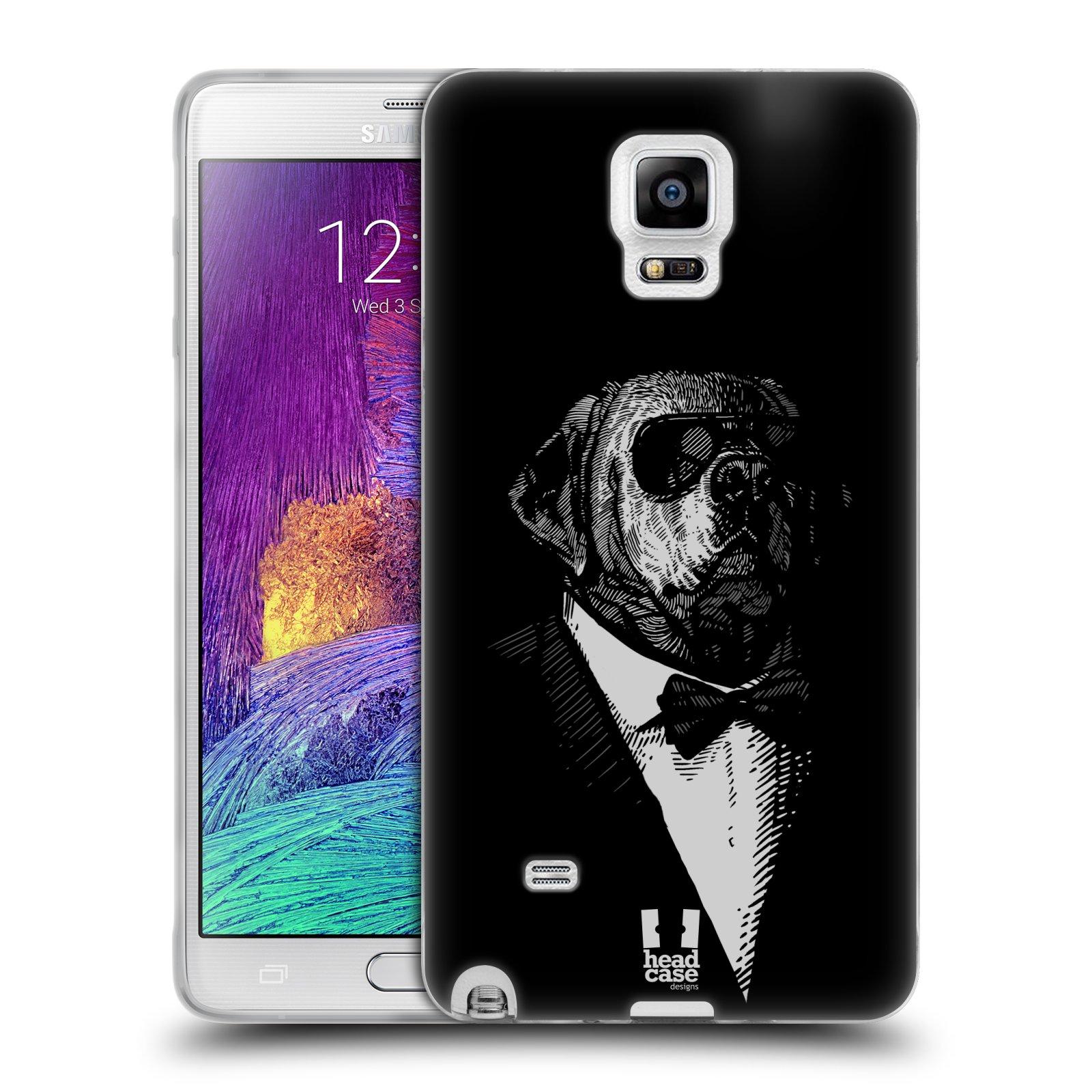 Silikonové pouzdro na mobil Samsung Galaxy Note 4 HEAD CASE PSISKO V KVÁDRU (Silikonový kryt či obal na mobilní telefon Samsung Galaxy Note 4 SM-N910F)
