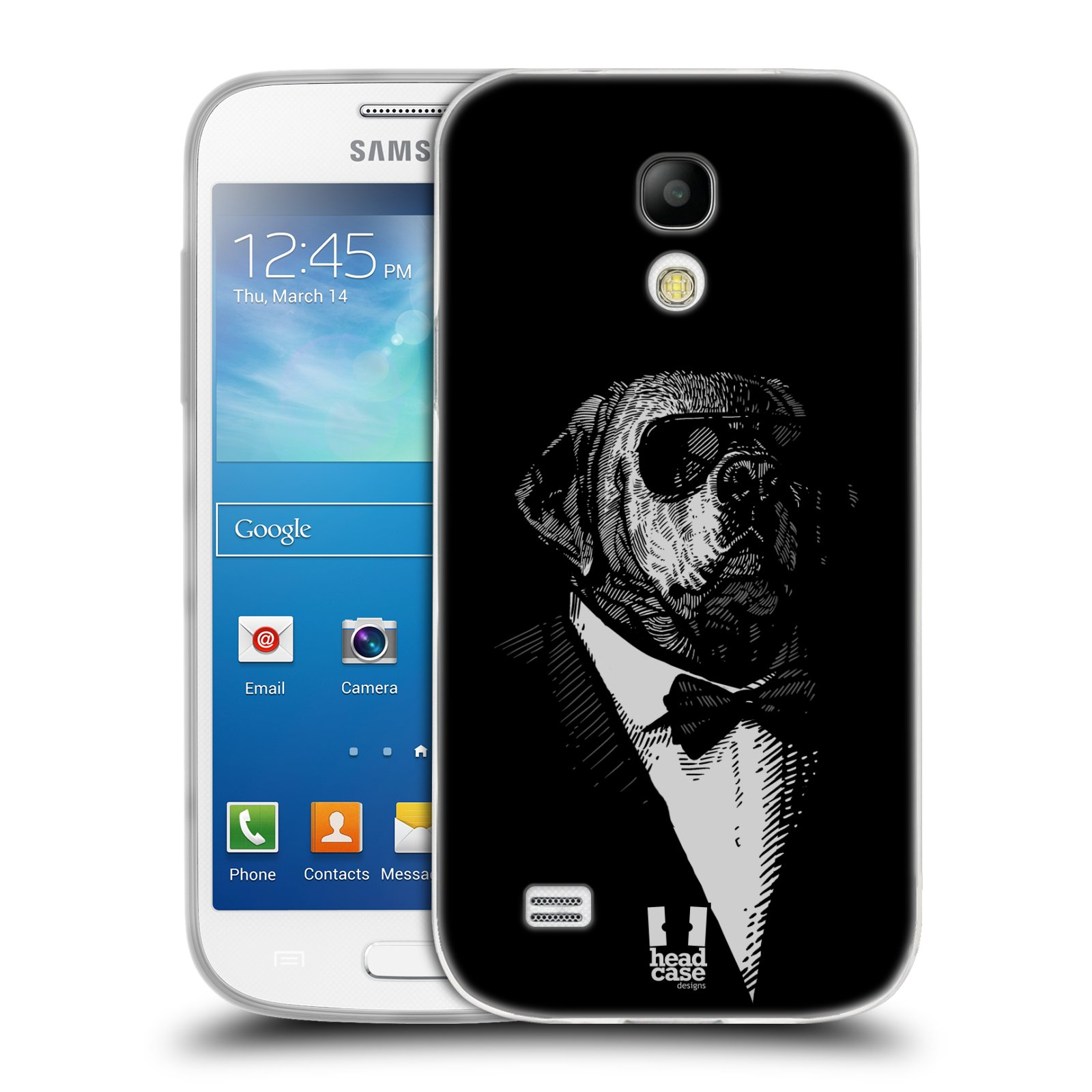 Silikonové pouzdro na mobil Samsung Galaxy S4 Mini HEAD CASE PSISKO V KVÁDRU (Silikonový kryt či obal na mobilní telefon Samsung Galaxy S4 Mini GT-i9195 / i9190 (nepasuje na verzi Black Edition))