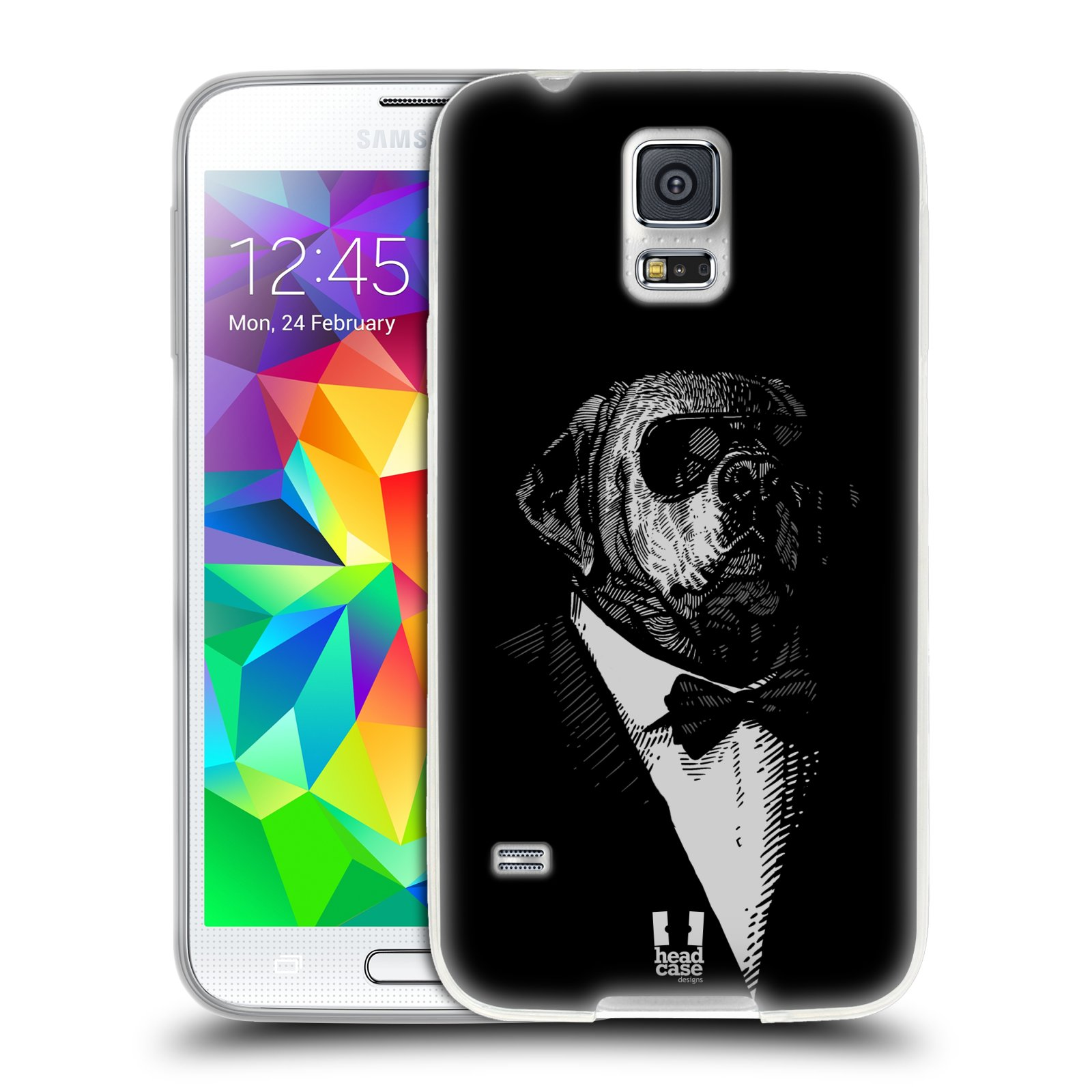 Silikonové pouzdro na mobil Samsung Galaxy S5 HEAD CASE PSISKO V KVÁDRU (Silikonový kryt či obal na mobilní telefon Samsung Galaxy S5 SM-G900F)