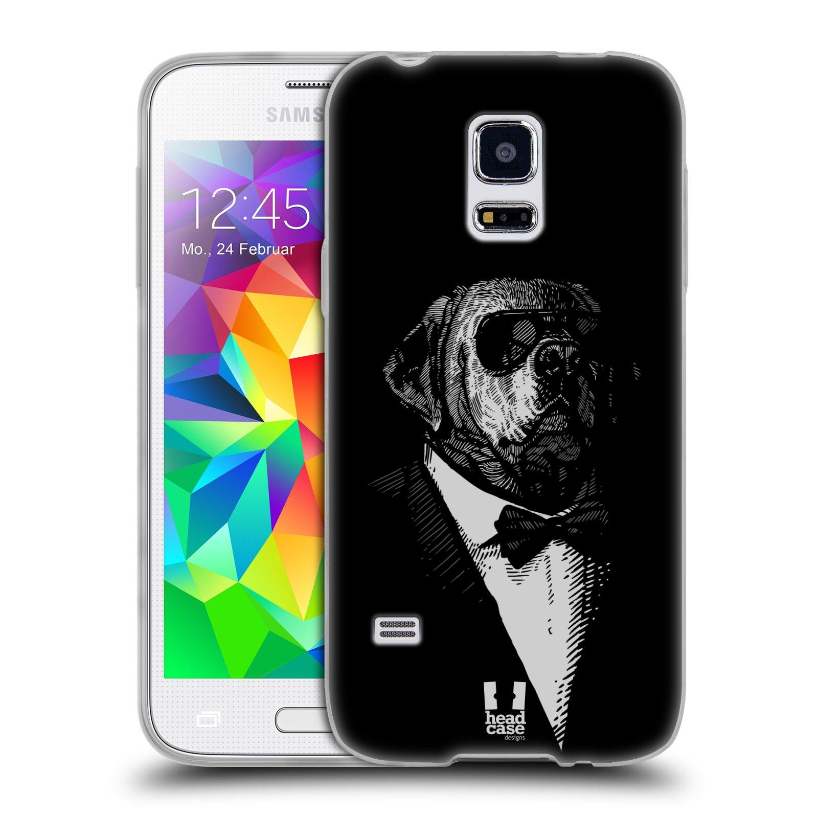 Silikonové pouzdro na mobil Samsung Galaxy S5 Mini HEAD CASE PSISKO V KVÁDRU (Silikonový kryt či obal na mobilní telefon Samsung Galaxy S5 Mini SM-G800F)
