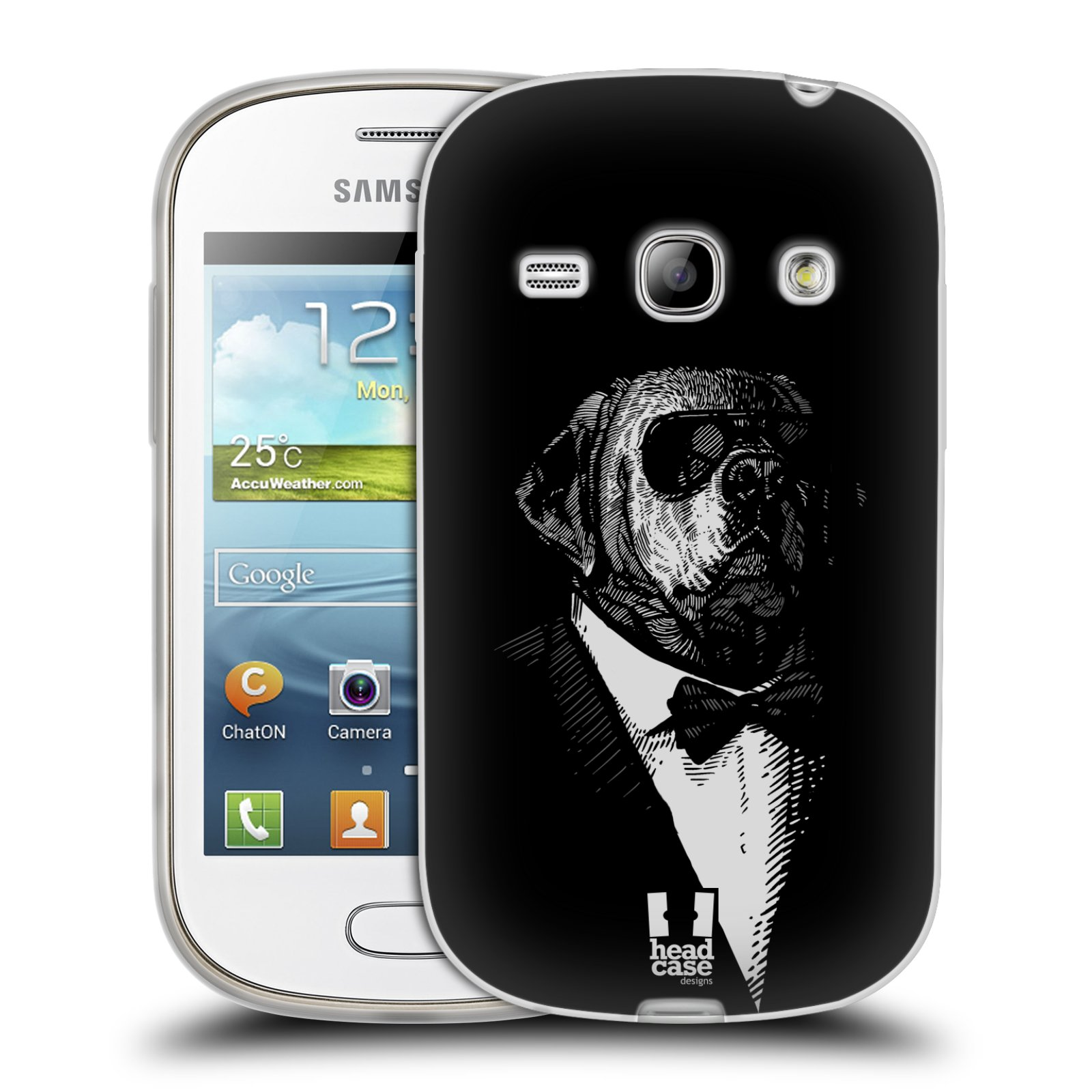Silikonové pouzdro na mobil Samsung Galaxy Fame HEAD CASE PSISKO V KVÁDRU (Silikonový kryt či obal na mobilní telefon Samsung Galaxy Fame GT-S6810)