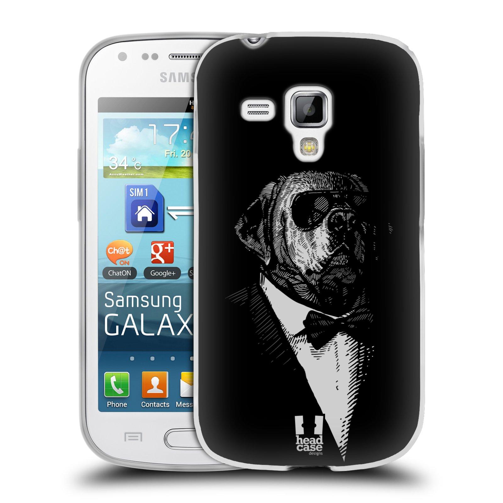 Silikonové pouzdro na mobil Samsung Galaxy Trend HEAD CASE PSISKO V KVÁDRU (Silikonový kryt či obal na mobilní telefon Samsung Galaxy Trend GT-S7560)