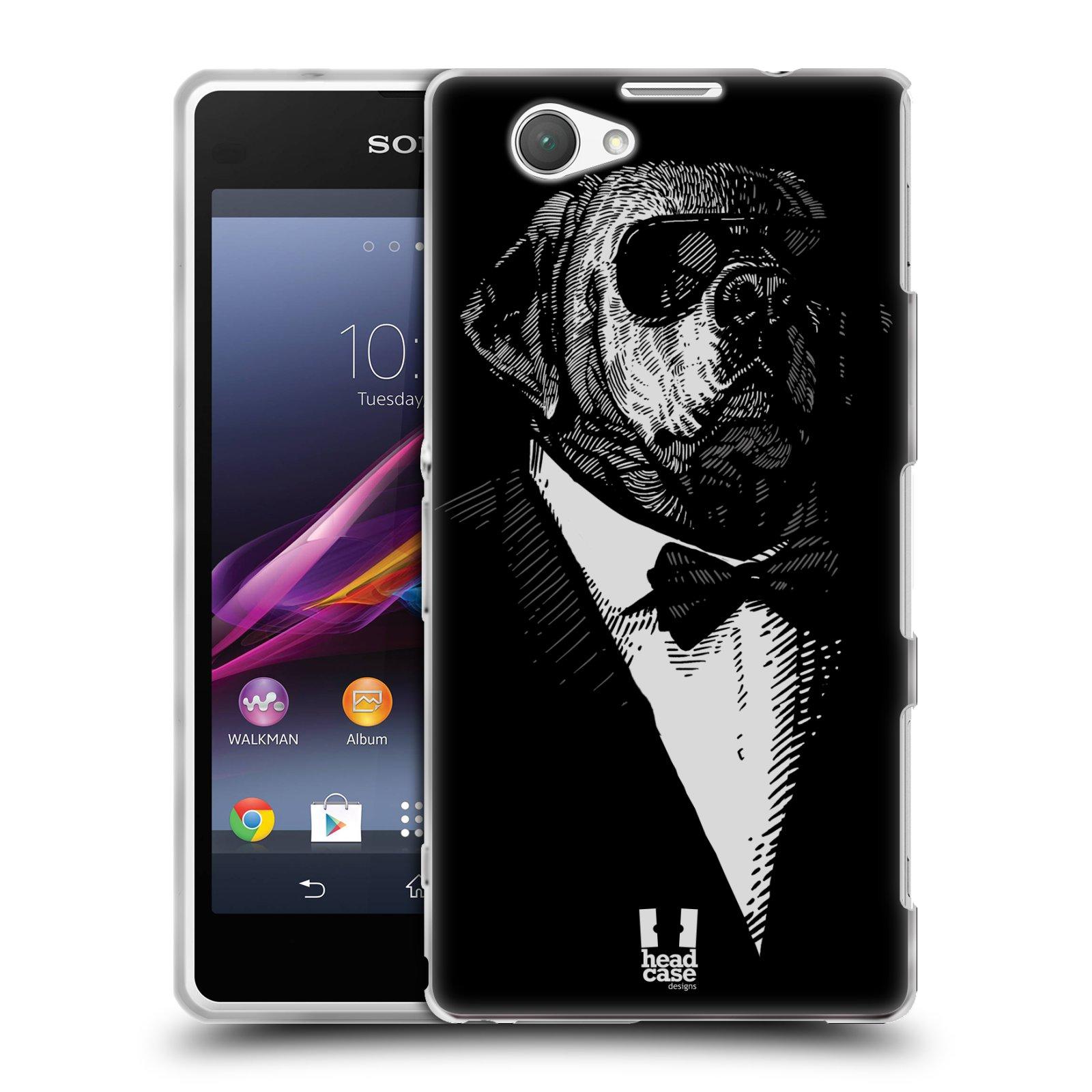 Silikonové pouzdro na mobil Sony Xperia Z1 Compact D5503 HEAD CASE PSISKO V KVÁDRU (Silikonový kryt či obal na mobilní telefon Sony Xperia Z1 Compact)