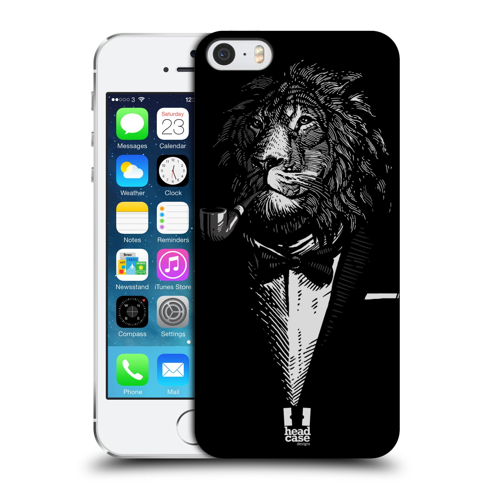 Plastové pouzdro na mobil Apple iPhone SE, 5 a 5S HEAD CASE LEV V KVÁDRU