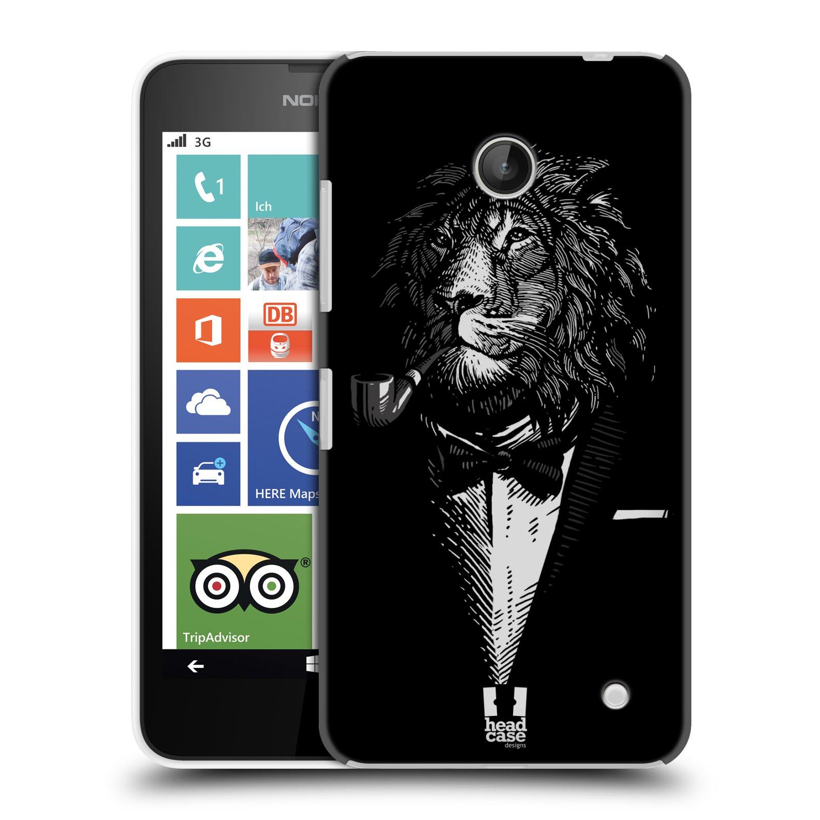 Plastové pouzdro na mobil Nokia Lumia 630 HEAD CASE LEV V KVÁDRU