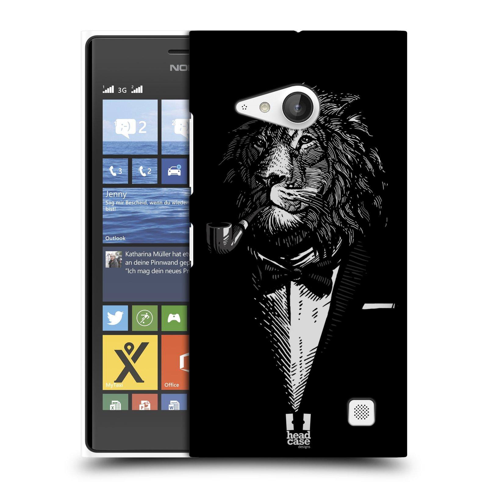 Plastové pouzdro na mobil Nokia Lumia 730 Dual SIM HEAD CASE LEV V KVÁDRU (Kryt či obal na mobilní telefon Nokia Lumia 730 Dual SIM)