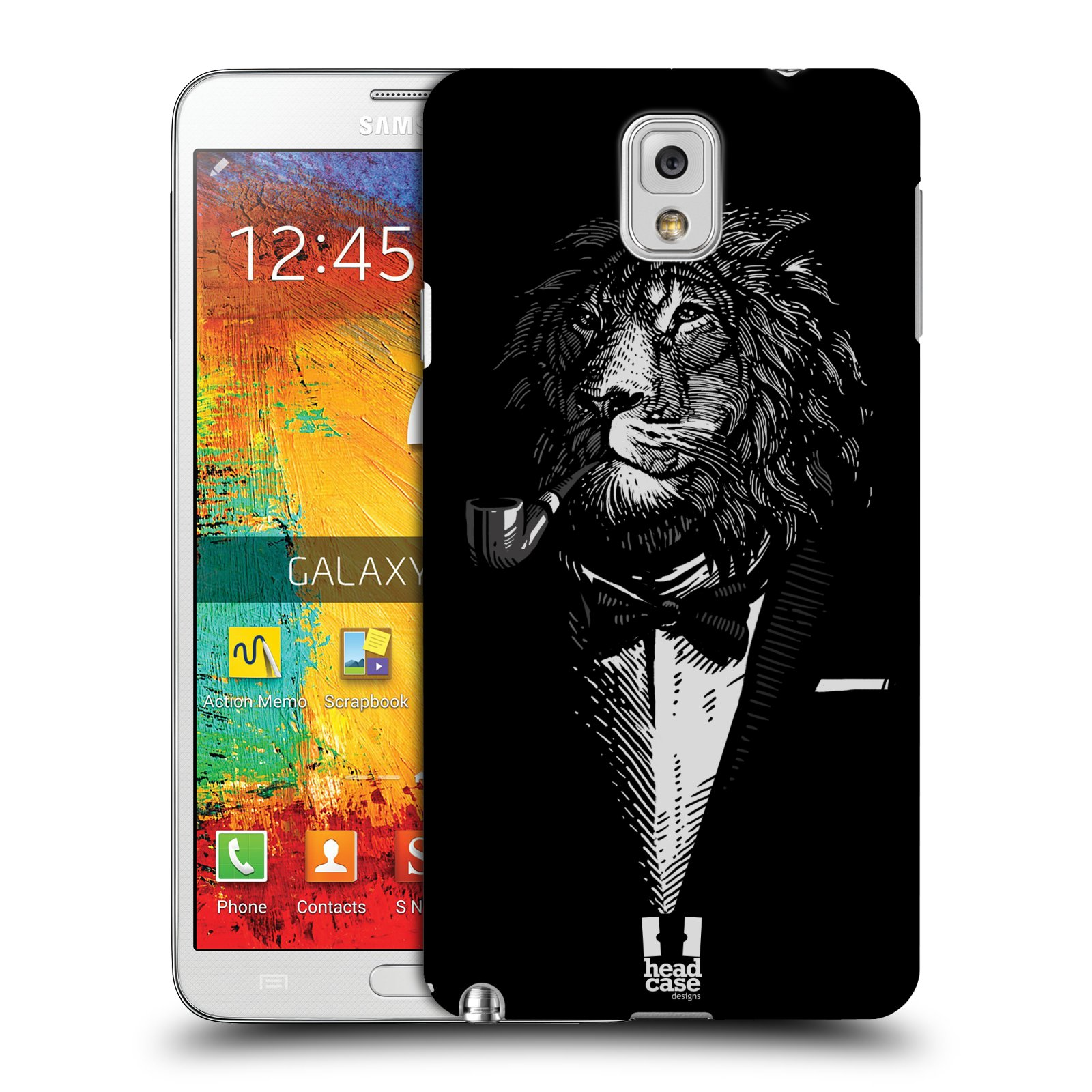 Plastové pouzdro na mobil Samsung Galaxy Note 3 HEAD CASE LEV V KVÁDRU (Kryt či obal na mobilní telefon Samsung Galaxy Note 3 SM-N9005)