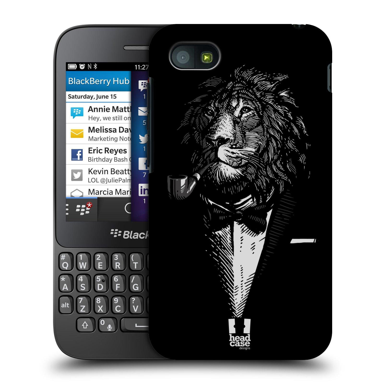 Plastové pouzdro na mobil Blackberry Q5 HEAD CASE LEV V KVÁDRU (Kryt či obal na mobilní telefon Blackberry Q5)