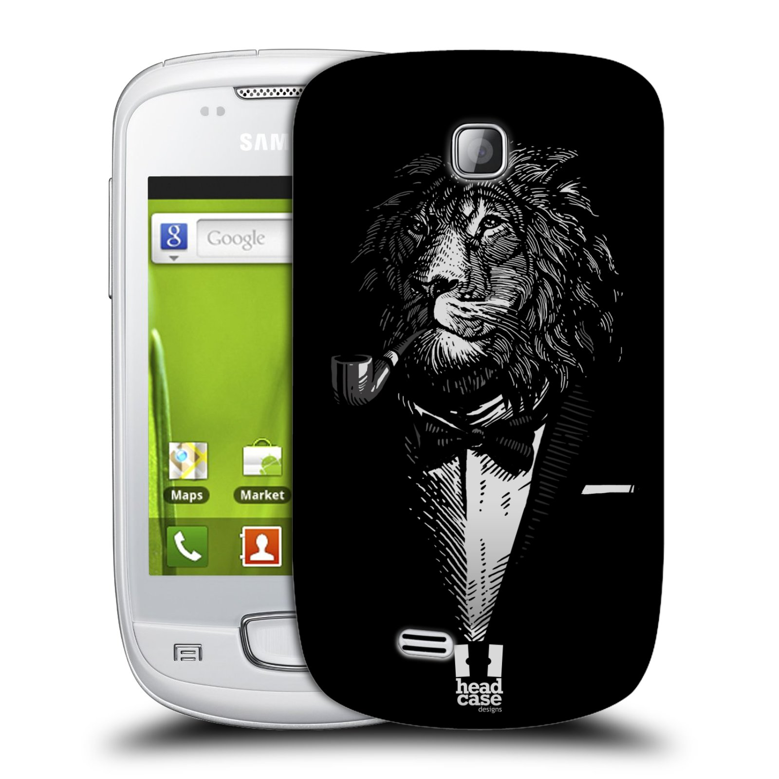 Plastové pouzdro na mobil Samsung Galaxy Mini HEAD CASE LEV V KVÁDRU (Kryt či obal na mobilní telefon Samsung Galaxy Mini GT-S5570 / GT-S5570i)