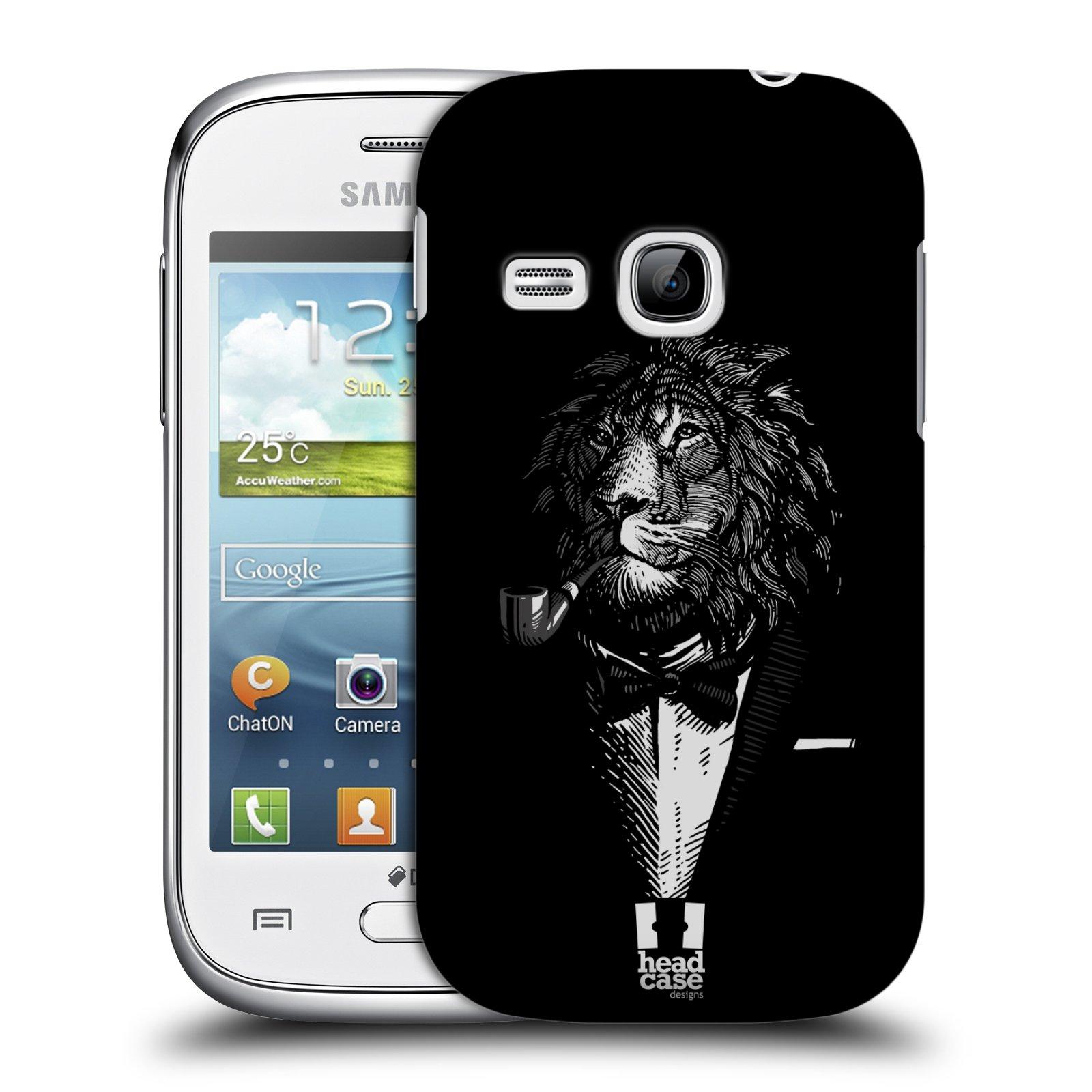 Plastové pouzdro na mobil Samsung Galaxy Young HEAD CASE LEV V KVÁDRU (Kryt či obal na mobilní telefon Samsung Galaxy Young GT-S6310)