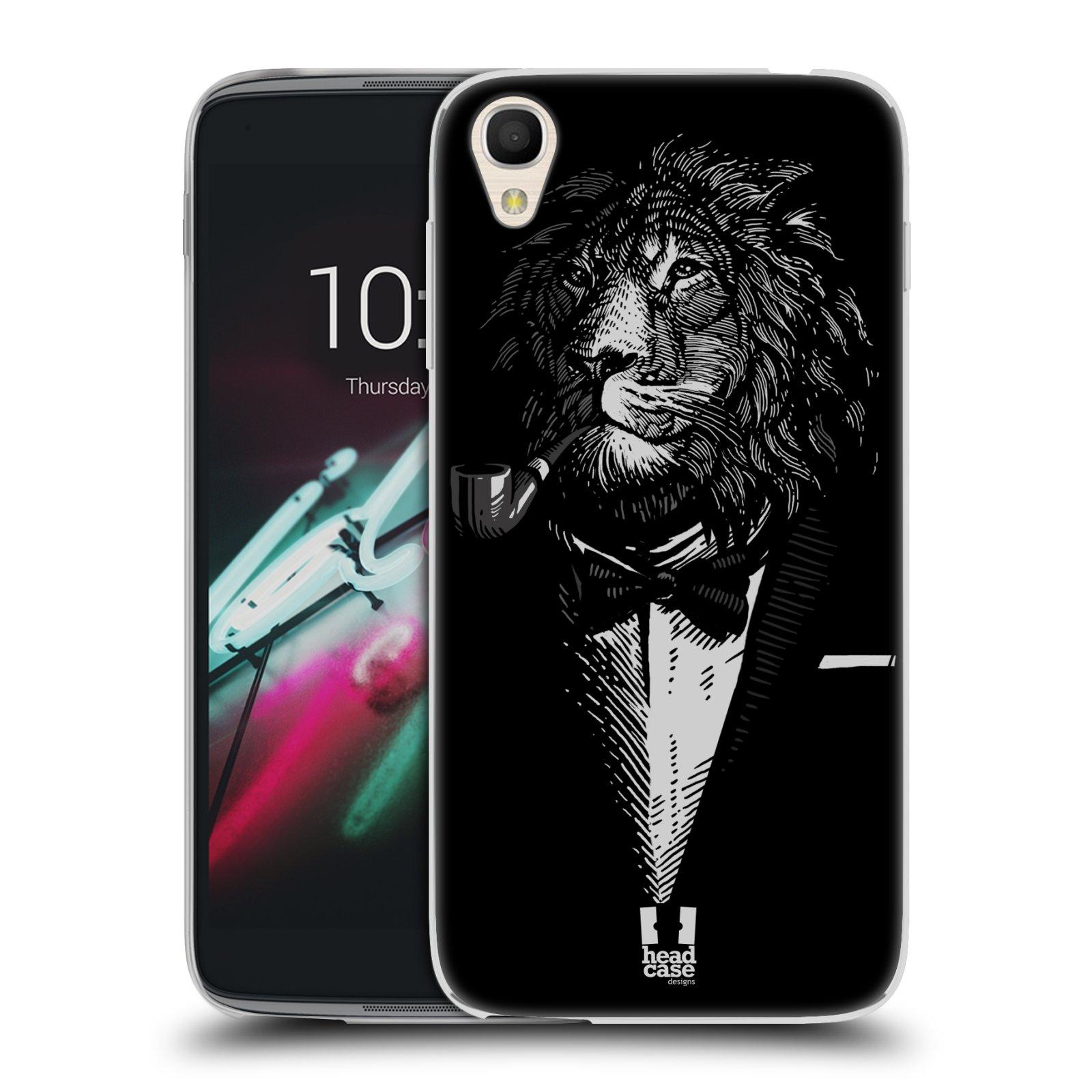 "Silikonové pouzdro na mobil Alcatel One Touch 6039Y Idol 3 HEAD CASE LEV V KVÁDRU (Silikonový kryt či obal na mobilní telefon Alcatel One Touch Idol 3 OT-6039Y s 4,7"" displejem)"
