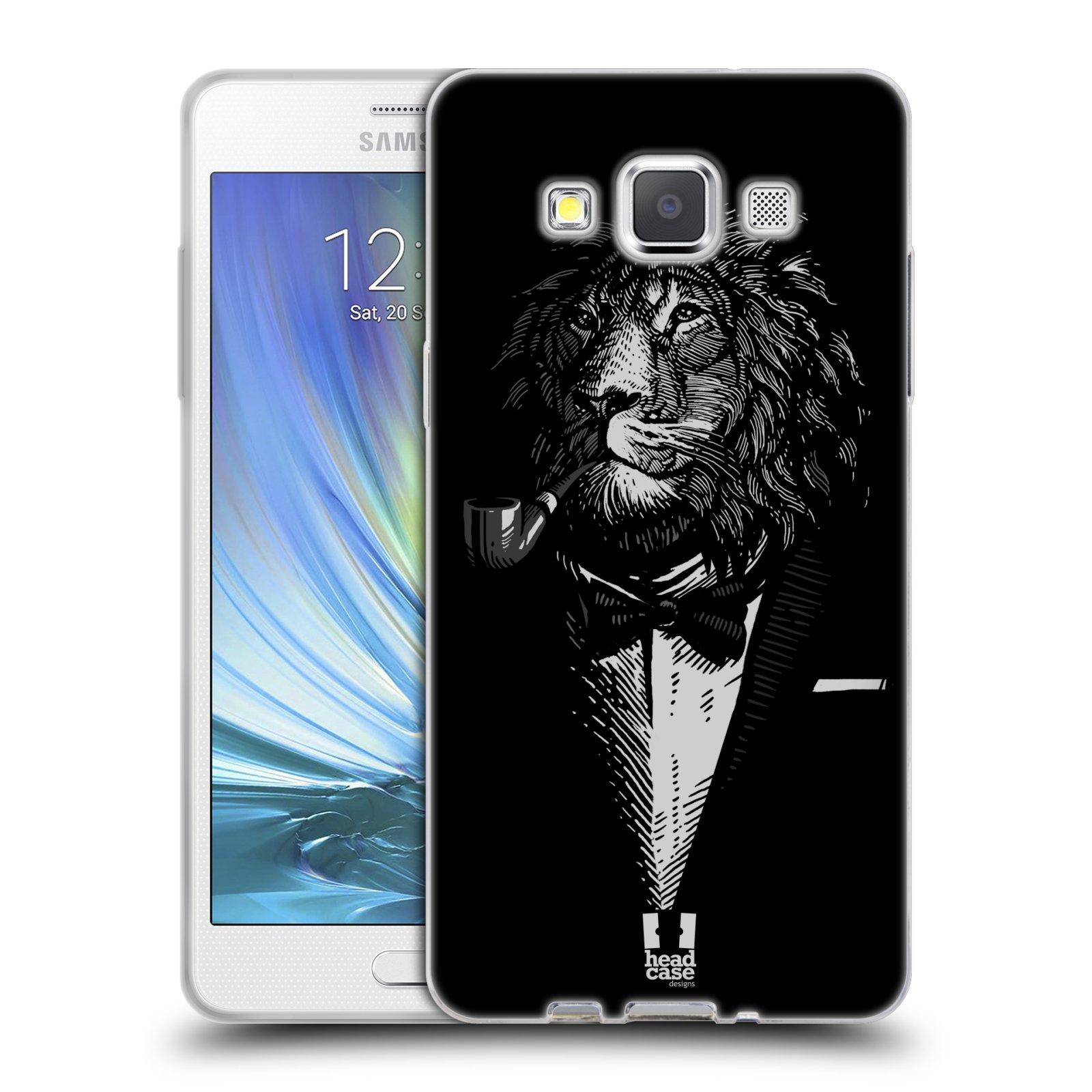 Silikonové pouzdro na mobil Samsung Galaxy A5 HEAD CASE LEV V KVÁDRU