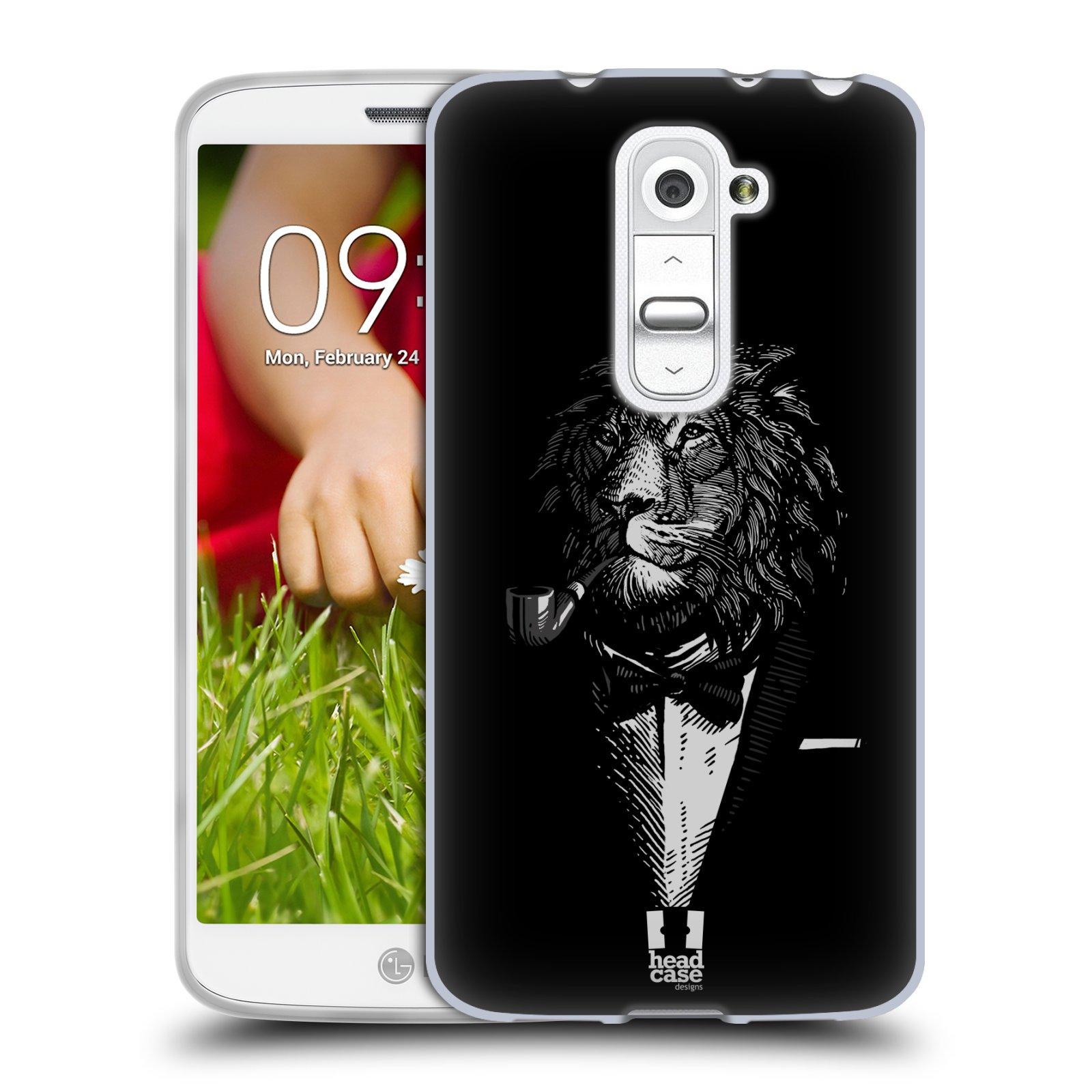 Silikonové pouzdro na mobil LG G2 Mini HEAD CASE LEV V KVÁDRU (Silikonový kryt či obal na mobilní telefon LG G2 Mini D620)