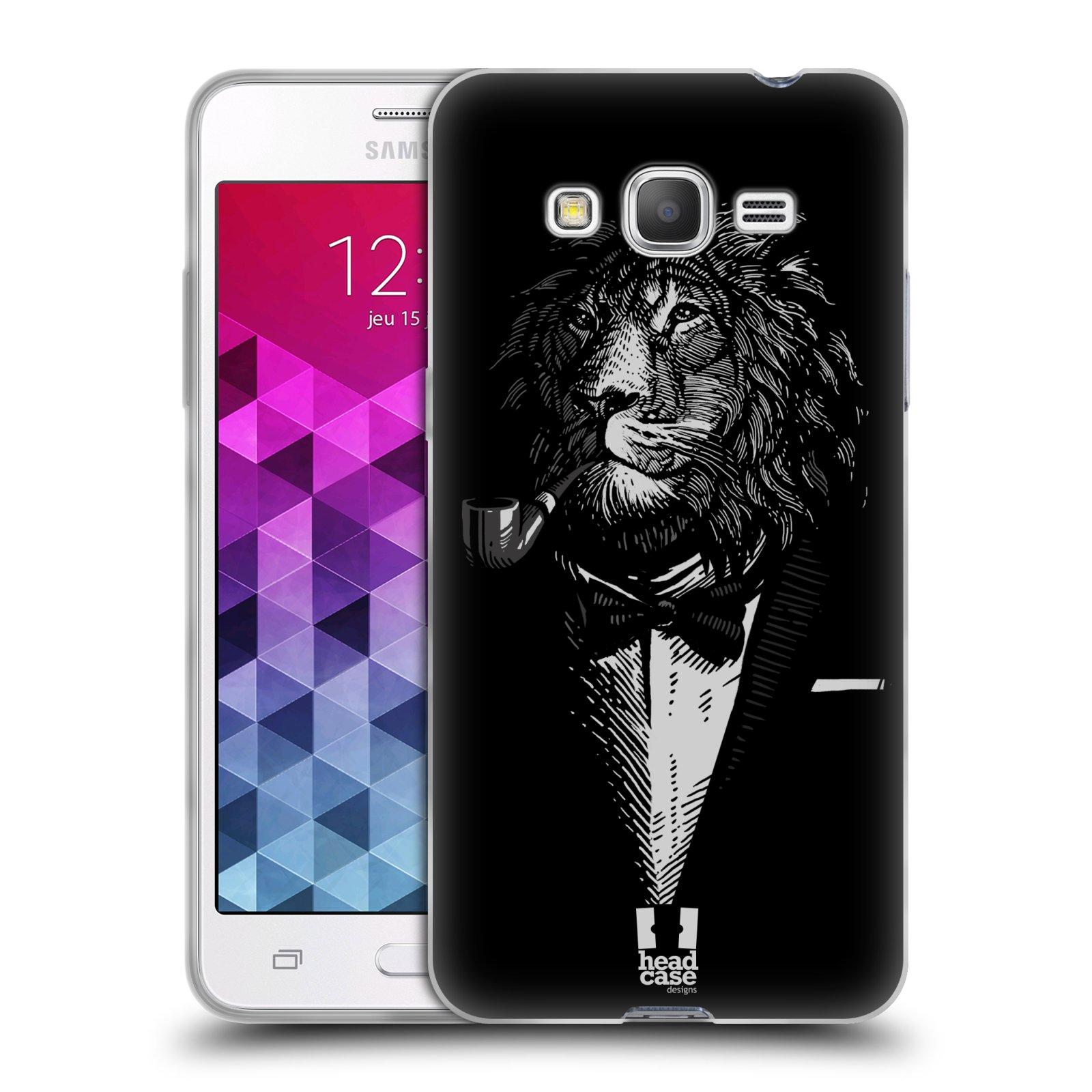 Silikonové pouzdro na mobil Samsung Galaxy Grand Prime HEAD CASE LEV V KVÁDRU