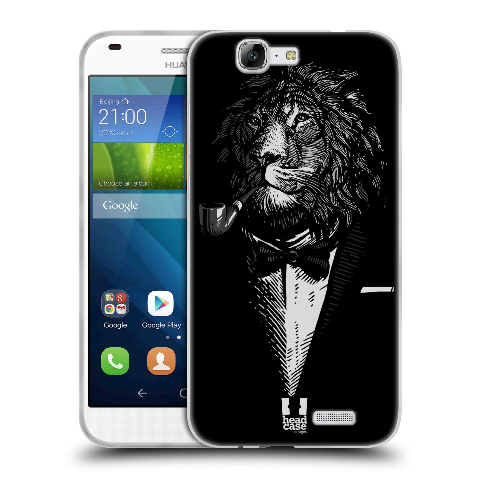 Silikonové pouzdro na mobil Huawei Ascend G7 HEAD CASE LEV V KVÁDRU (Silikonový kryt či obal na mobilní telefon Huawei Ascend G7)