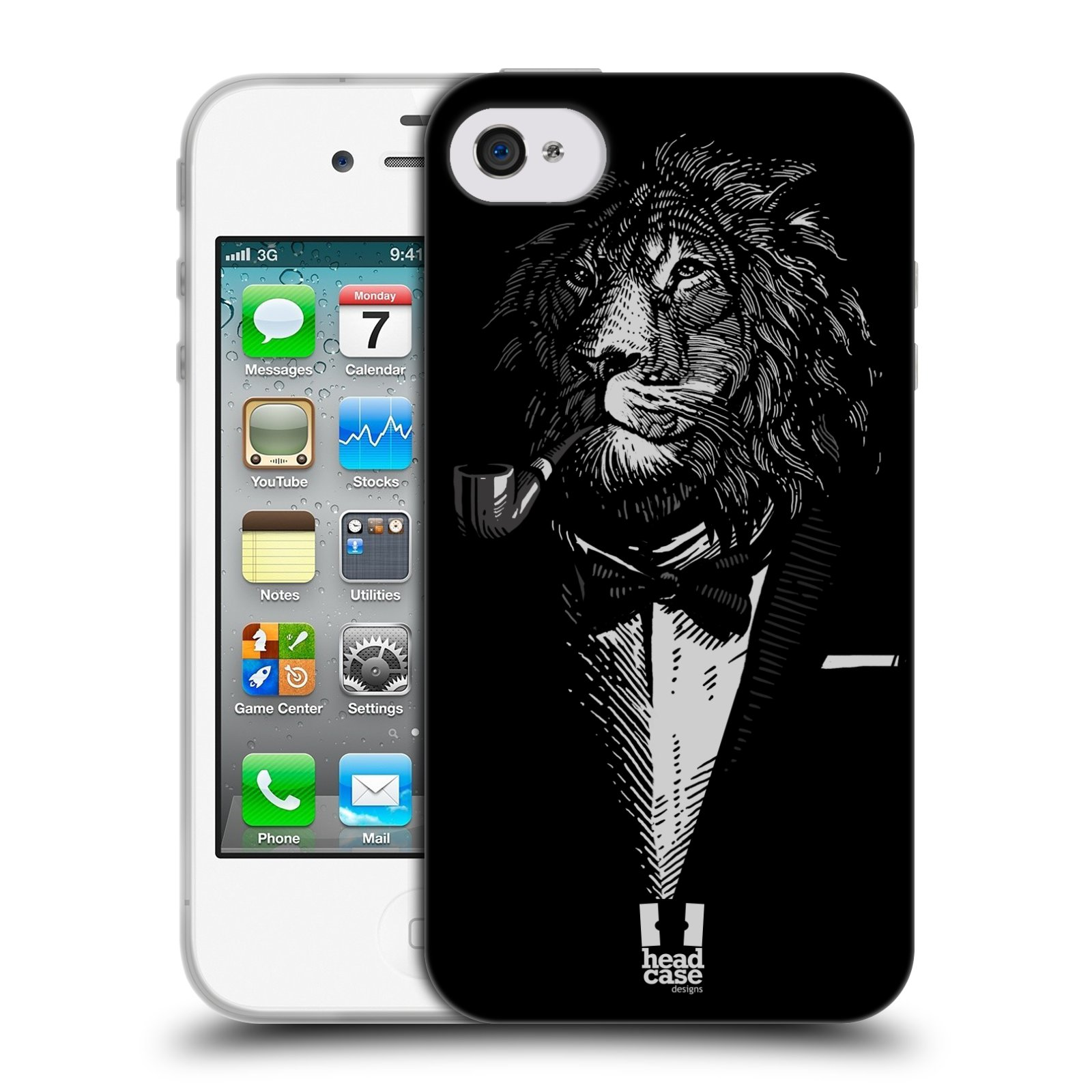 Silikonové pouzdro na mobil Apple iPhone 4 a 4S HEAD CASE LEV V KVÁDRU (Silikonový kryt či obal na mobilní telefon Apple iPhone 4 a 4S)