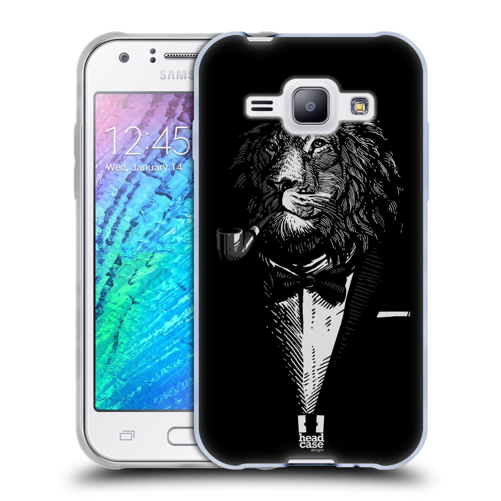 Silikonové pouzdro na mobil Samsung Galaxy J1 HEAD CASE LEV V KVÁDRU (Silikonový kryt či obal na mobilní telefon Samsung Galaxy J1 a J1 Duos)