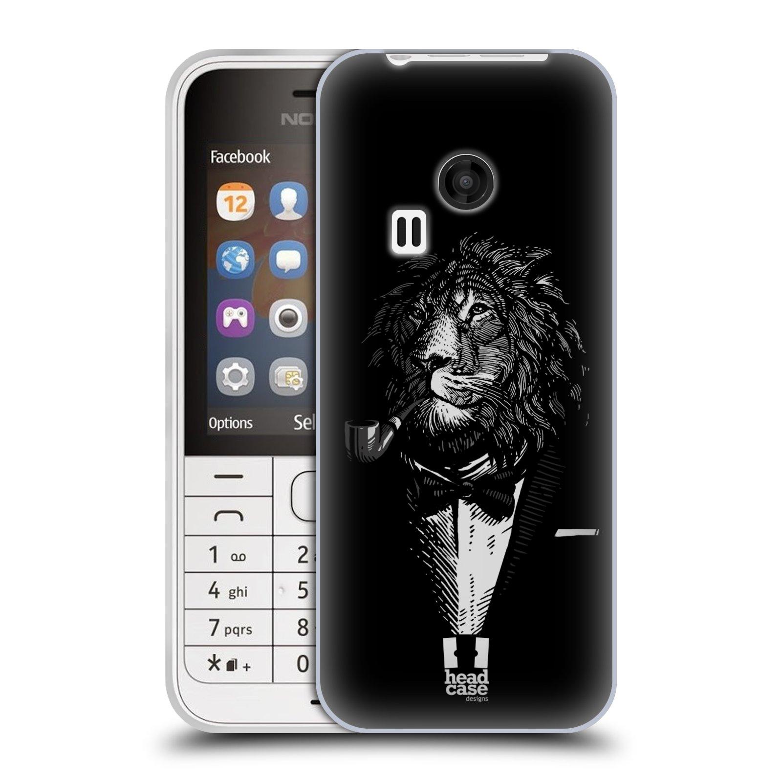 Silikonové pouzdro na mobil Nokia 220 HEAD CASE LEV V KVÁDRU (Silikonový kryt či obal na mobilní telefon Nokia 220 a 220 Dual SIM)