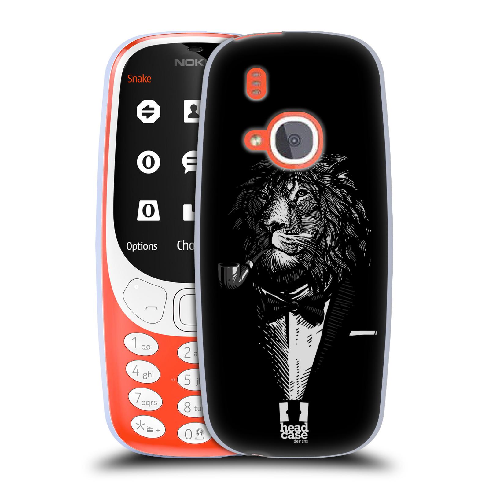 Silikonové pouzdro na mobil Nokia 3310 - Head Case - LEV V KVÁDRU (Silikonový kryt či obal na mobilní telefon Nokia 3310 (2017) s motivem LEV V KVÁDRU)