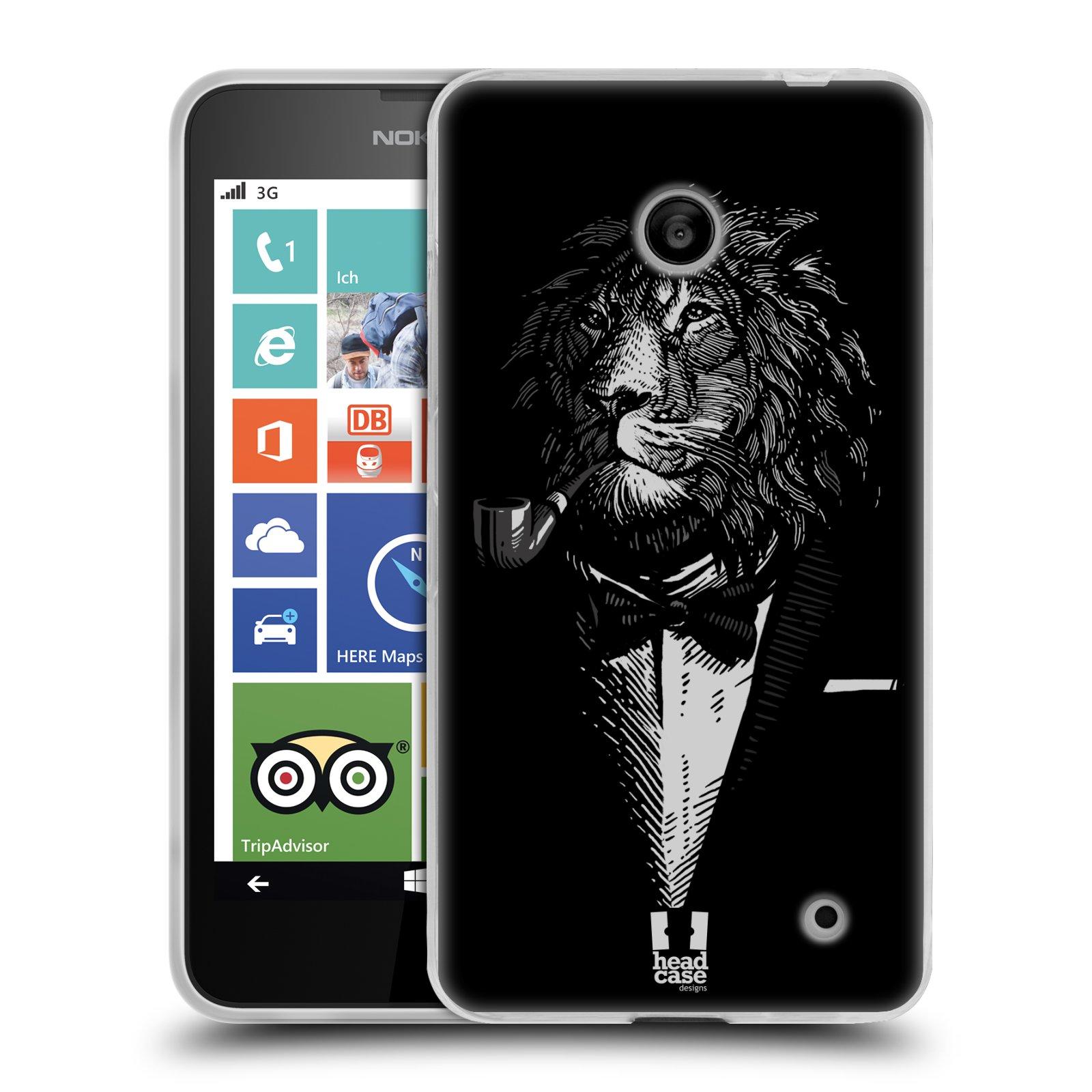 Silikonové pouzdro na mobil Nokia Lumia 635 HEAD CASE LEV V KVÁDRU (Silikonový kryt či obal na mobilní telefon Nokia Lumia 635 Dual SIM)