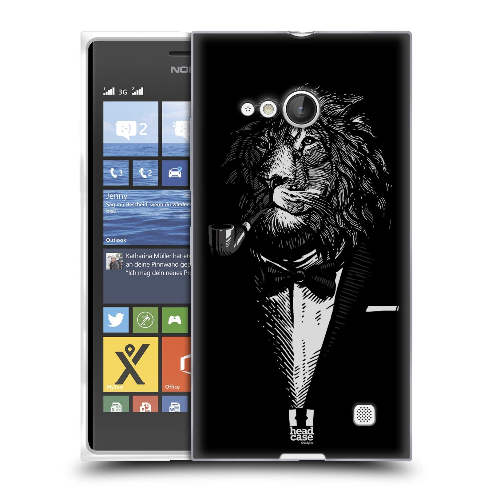 Silikonové pouzdro na mobil Nokia Lumia 730 Dual SIM HEAD CASE LEV V KVÁDRU (Silikonový kryt či obal na mobilní telefon Nokia Lumia 730 Dual SIM)