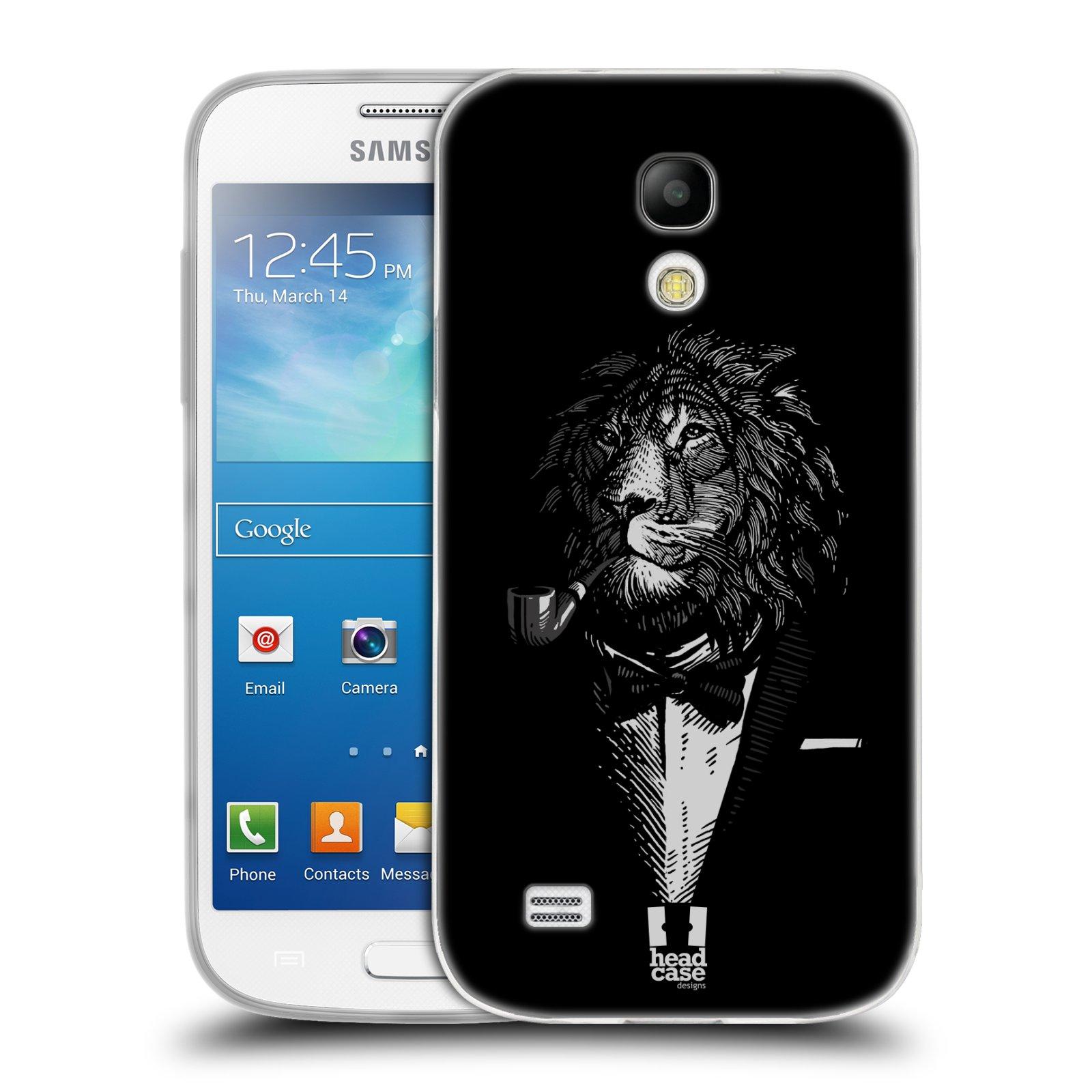 Silikonové pouzdro na mobil Samsung Galaxy S4 Mini HEAD CASE LEV V KVÁDRU (Silikonový kryt či obal na mobilní telefon Samsung Galaxy S4 Mini GT-i9195 / i9190 (nepasuje na verzi Black Edition))