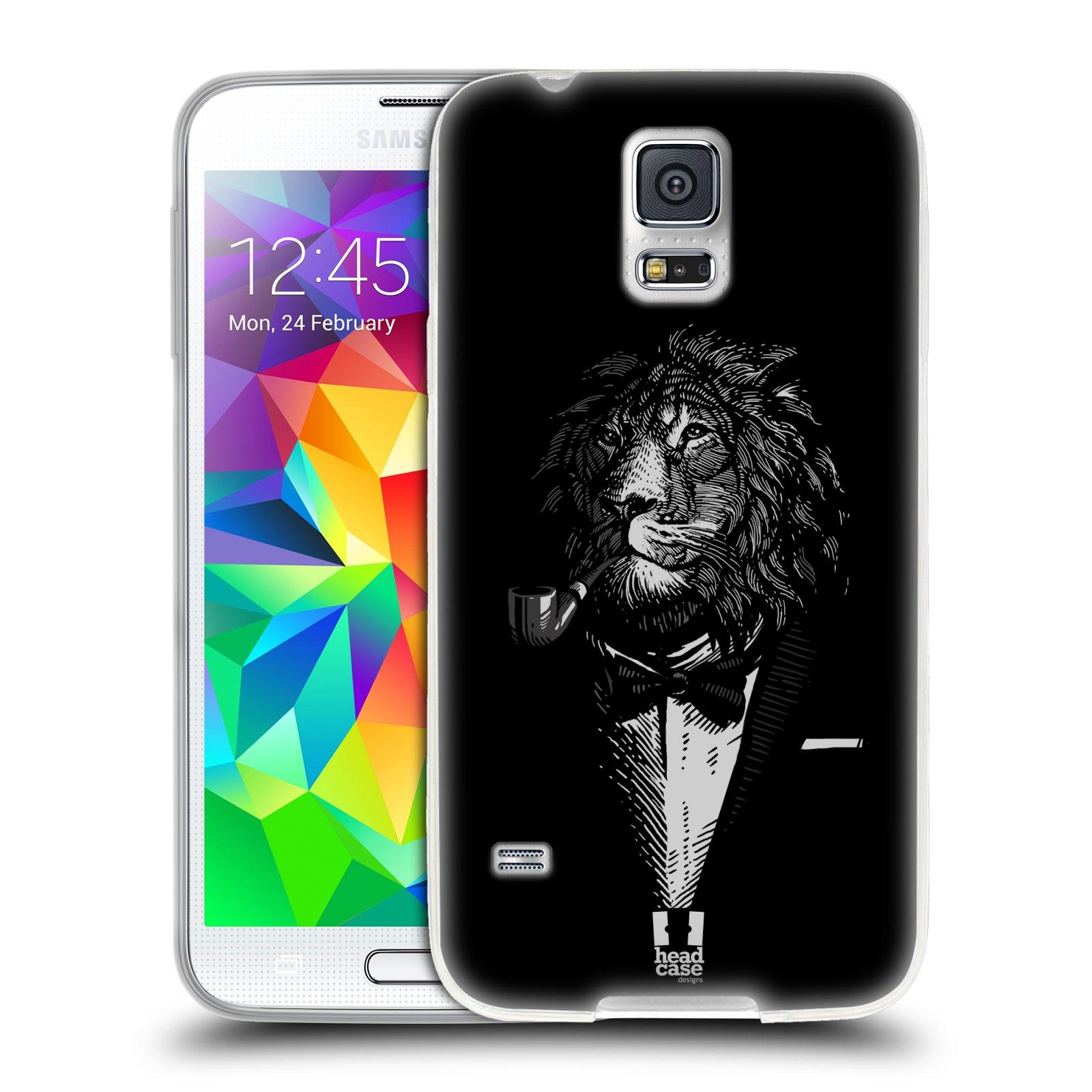 Silikonové pouzdro na mobil Samsung Galaxy S5 HEAD CASE LEV V KVÁDRU (Silikonový kryt či obal na mobilní telefon Samsung Galaxy S5 SM-G900F)