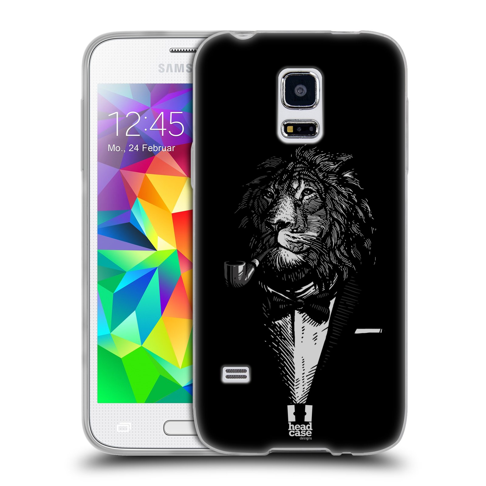 Silikonové pouzdro na mobil Samsung Galaxy S5 Mini HEAD CASE LEV V KVÁDRU (Silikonový kryt či obal na mobilní telefon Samsung Galaxy S5 Mini SM-G800F)