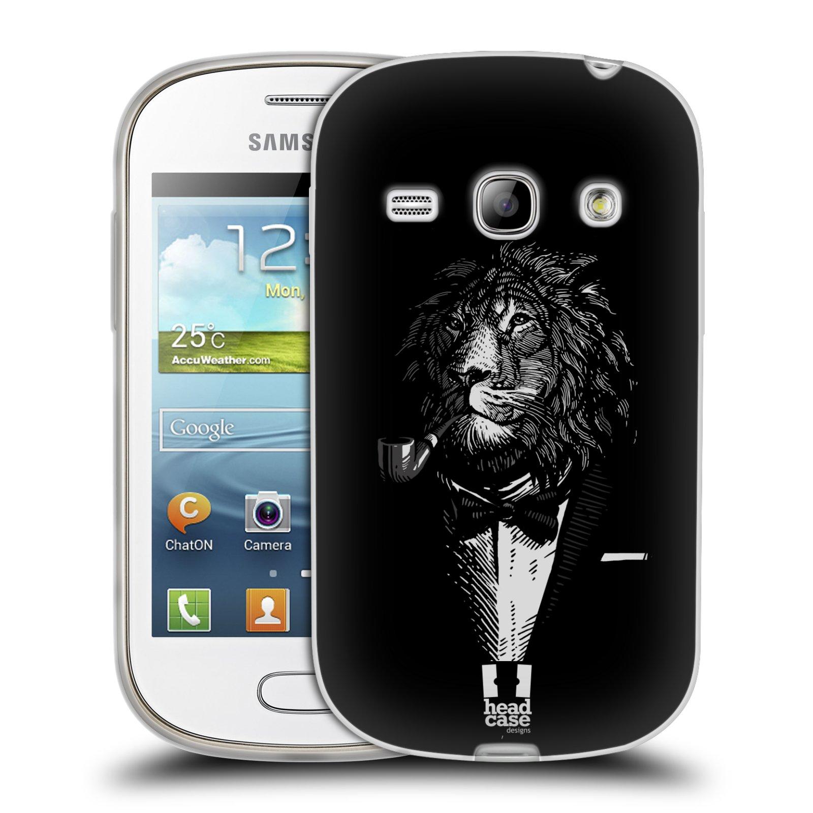 Silikonové pouzdro na mobil Samsung Galaxy Fame HEAD CASE LEV V KVÁDRU (Silikonový kryt či obal na mobilní telefon Samsung Galaxy Fame GT-S6810)