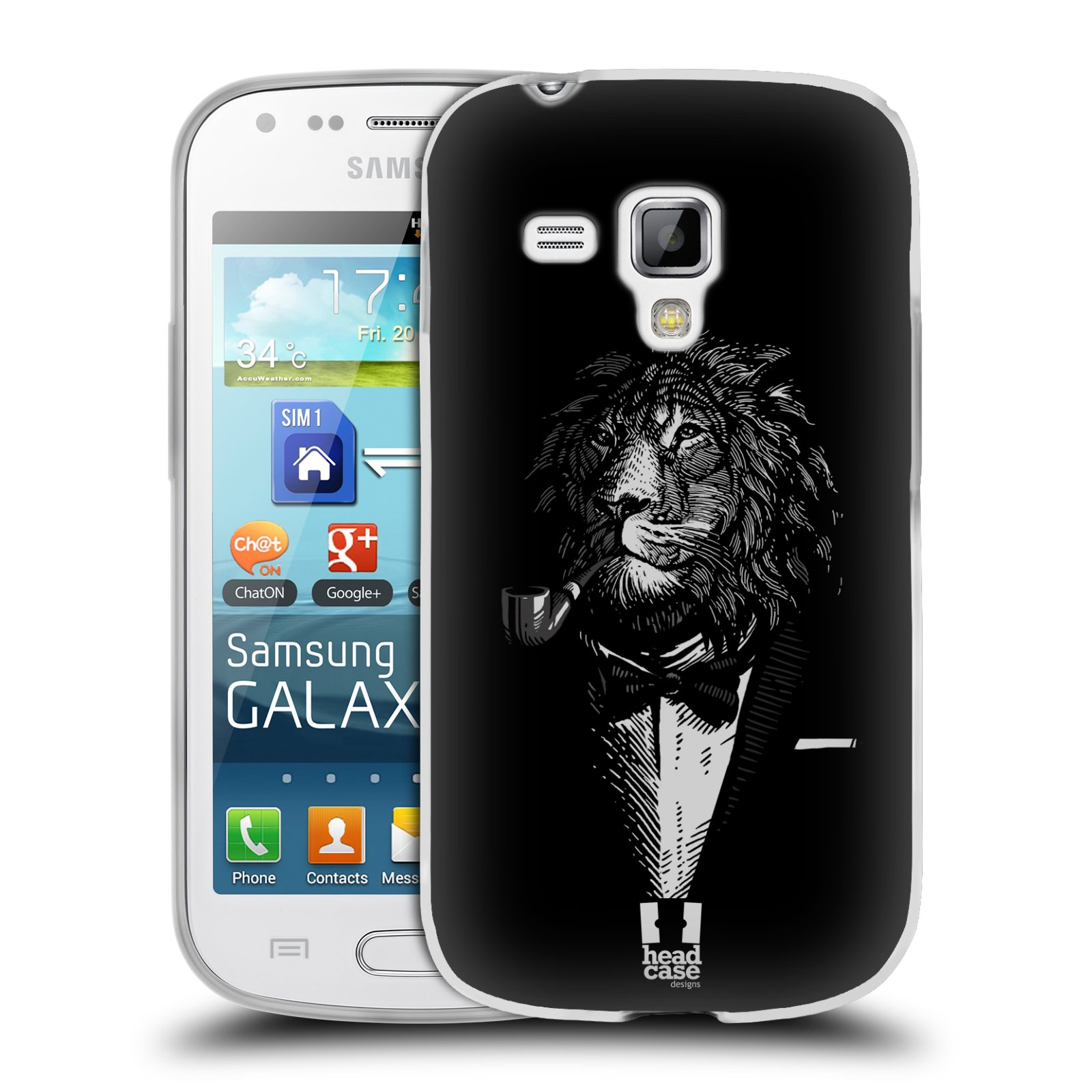 Silikonové pouzdro na mobil Samsung Galaxy Trend HEAD CASE LEV V KVÁDRU (Silikonový kryt či obal na mobilní telefon Samsung Galaxy Trend GT-S7560)