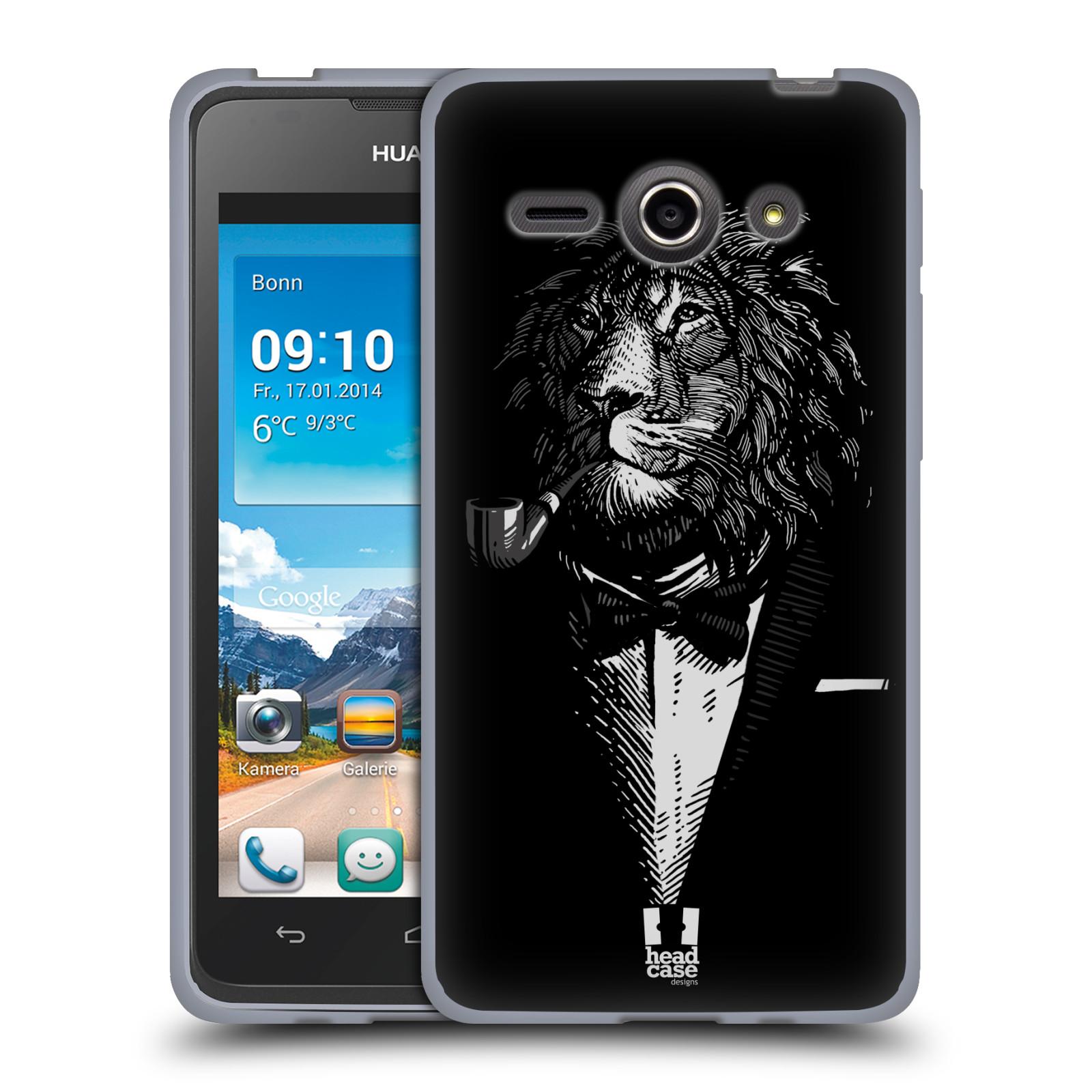 Silikonové pouzdro na mobil Huawei Ascend Y530 HEAD CASE LEV V KVÁDRU (Silikonový kryt či obal na mobilní telefon Huawei Ascend Y530)