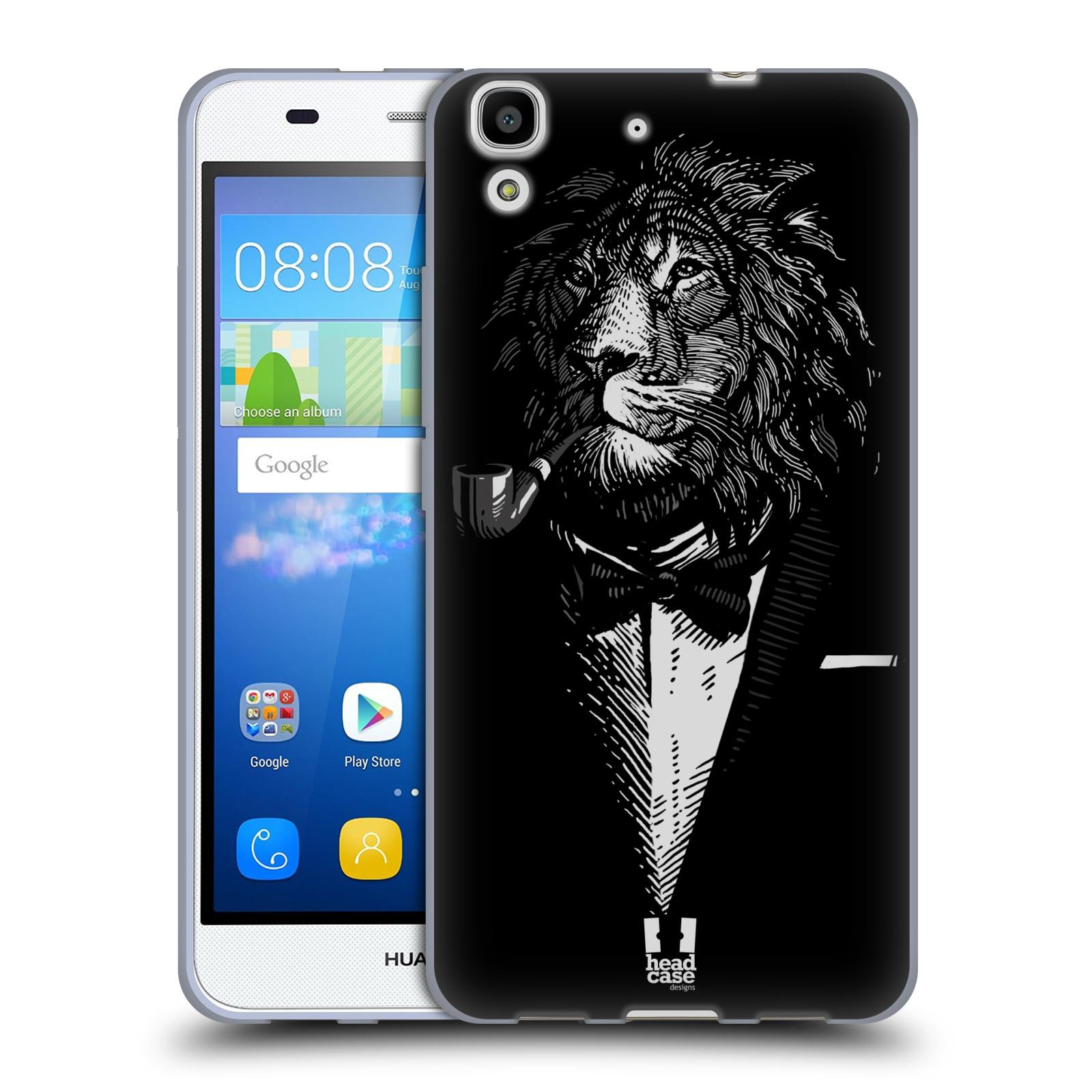 Silikonové pouzdro na mobil Huawei Y6 HEAD CASE LEV V KVÁDRU