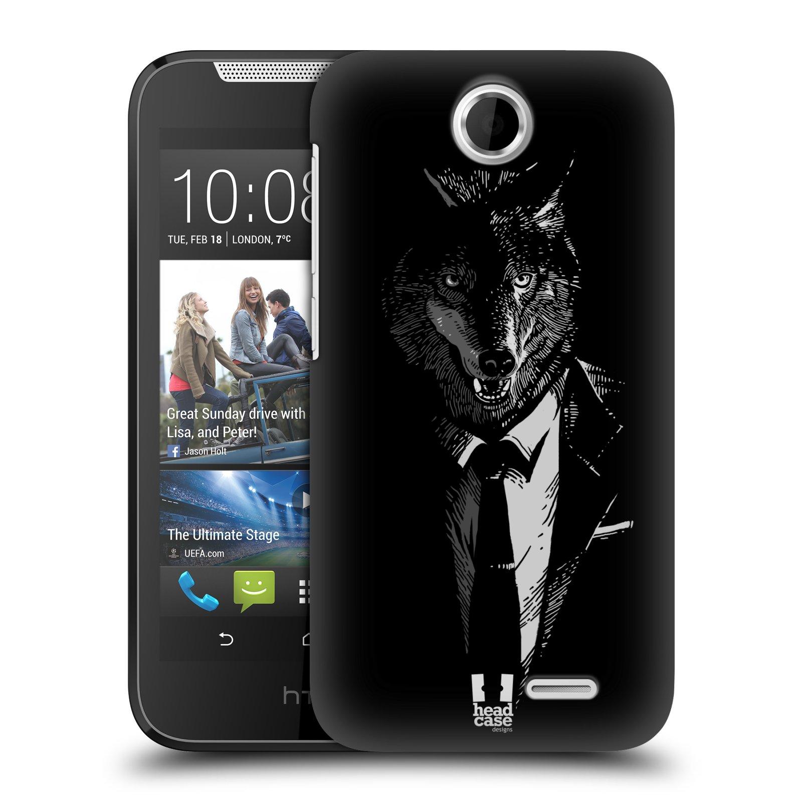 Plastové pouzdro na mobil HTC Desire 310 HEAD CASE VLK V KVÁDRU (Kryt či obal na mobilní telefon HTC Desire 310)