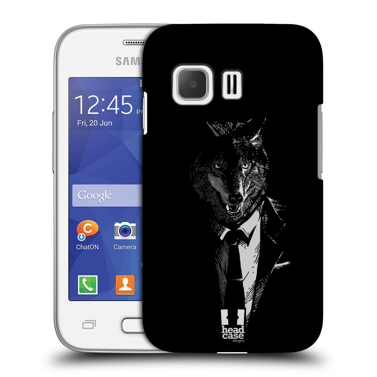 Plastové pouzdro na mobil Samsung Galaxy Young 2 HEAD CASE VLK V KVÁDRU (Kryt či obal na mobilní telefon Samsung Galaxy Young 2 SM-G130)
