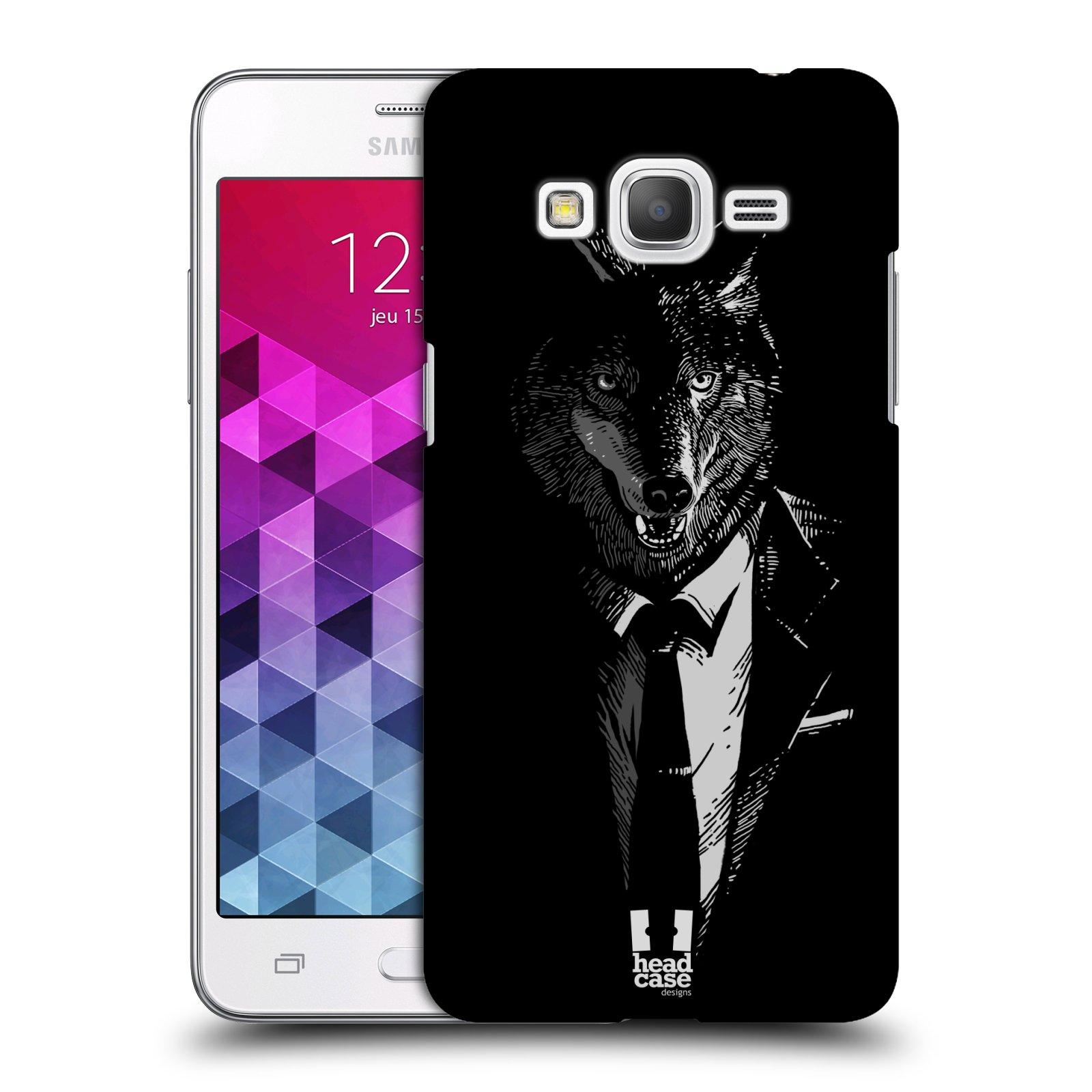 Plastové pouzdro na mobil Samsung Galaxy Grand Prime VE HEAD CASE VLK V KVÁDRU