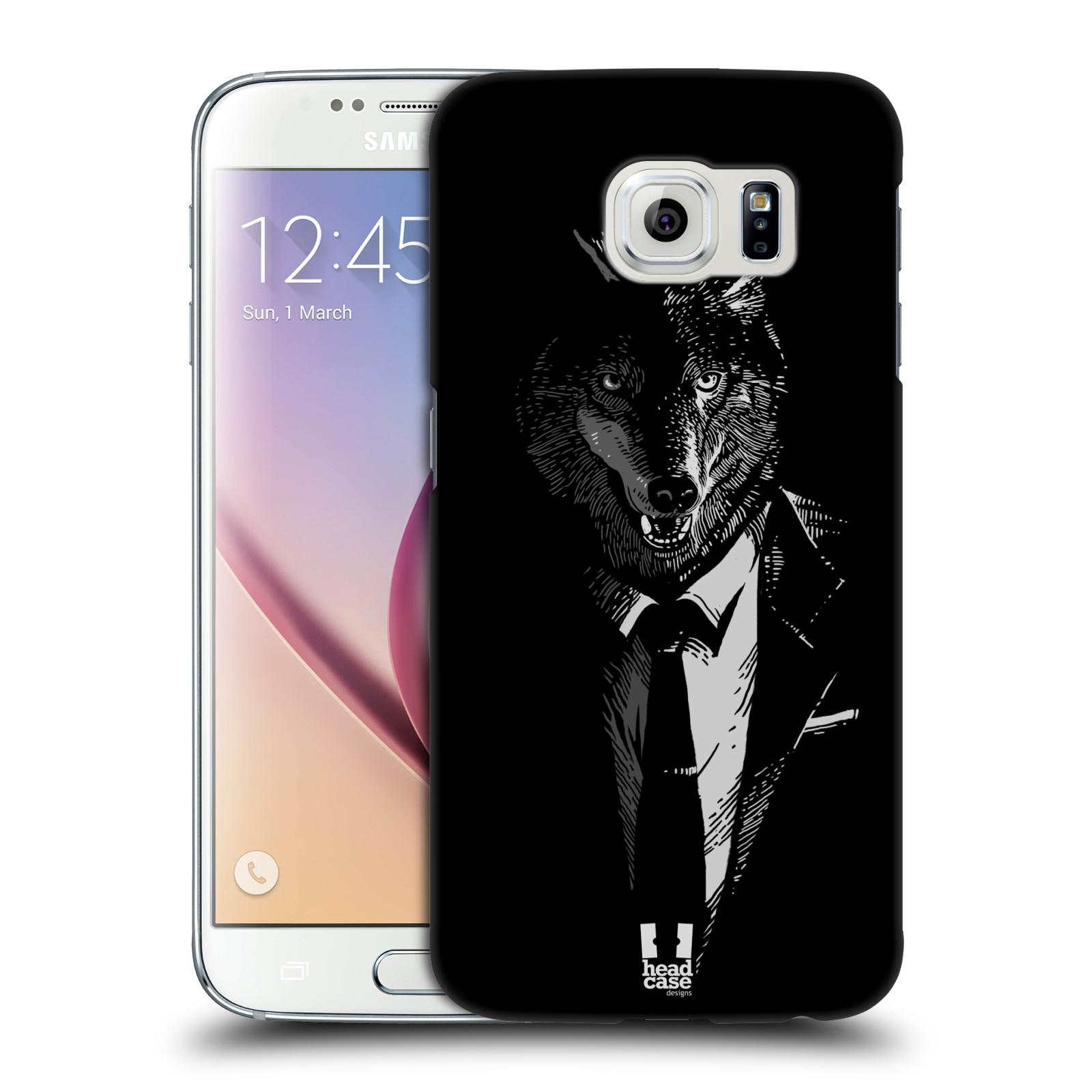 Plastové pouzdro na mobil Samsung Galaxy S6 HEAD CASE VLK V KVÁDRU